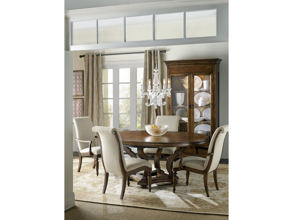 Hooker Furniture Dining Room Archivist 54in Round Dining Table W 1 18in Leaf 5447 75203