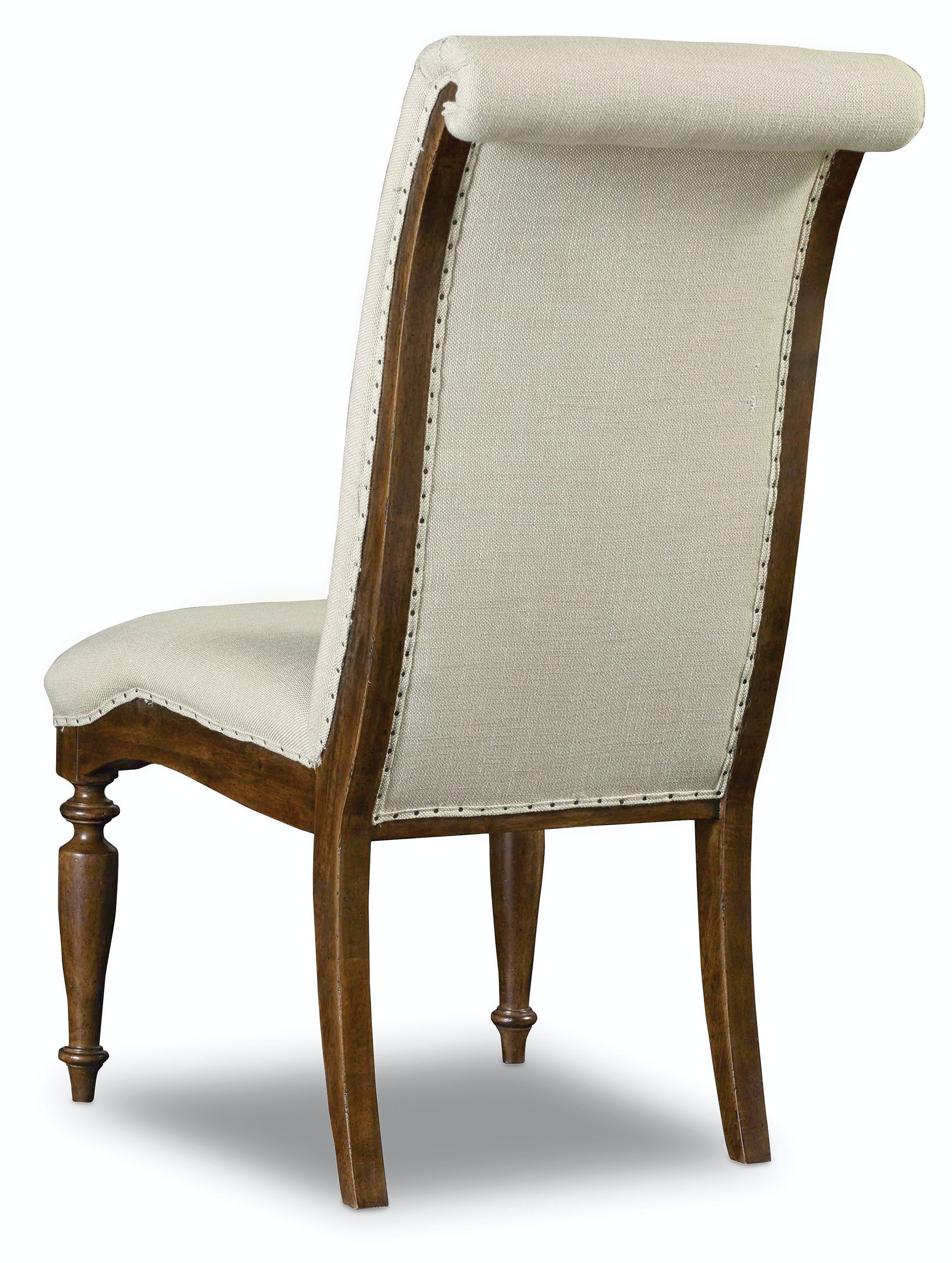 Hooker furniture dining room archivist upholstered side for Upholstered dining room side chairs