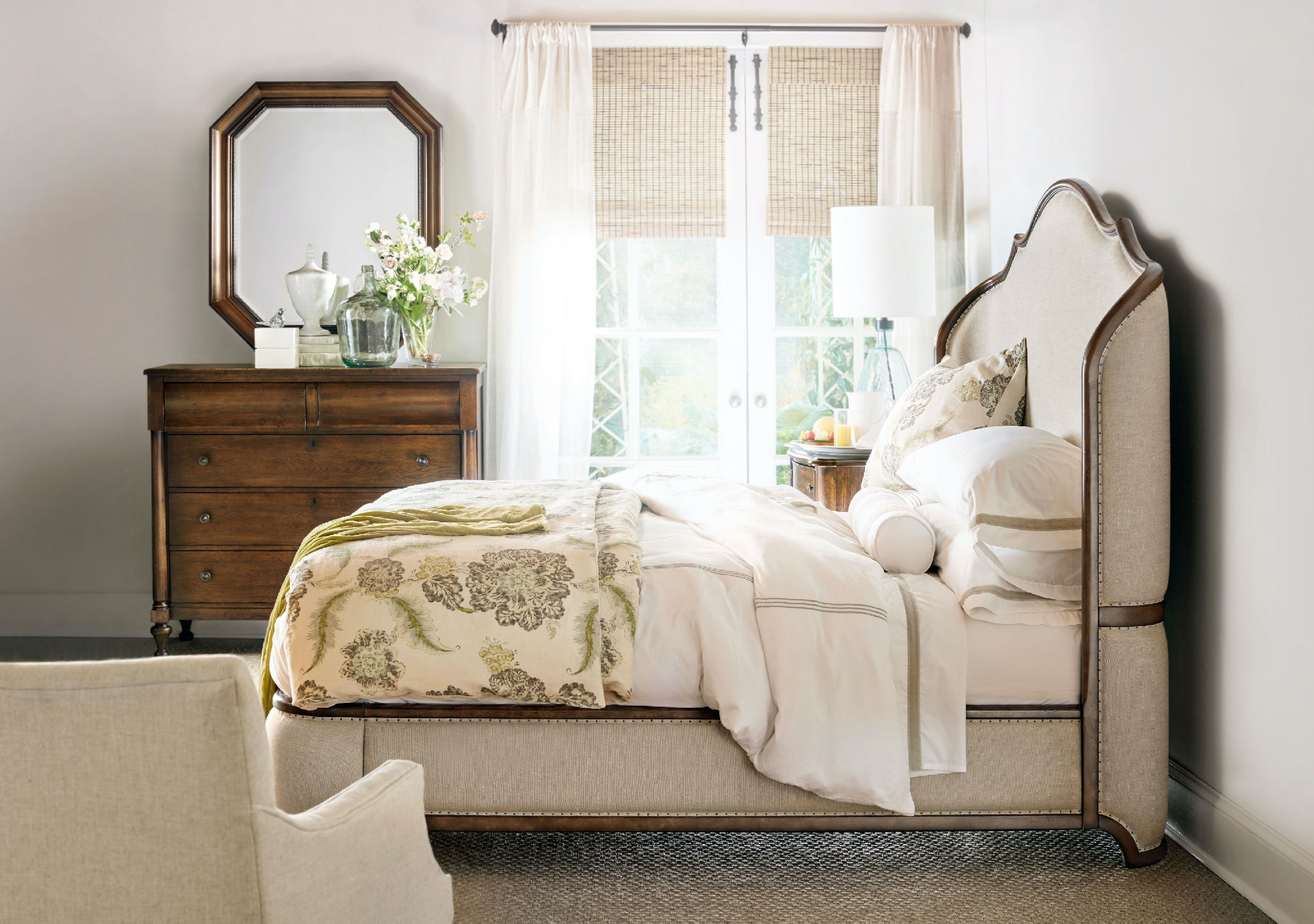 hooker furniture. Hooker Furniture Archivist King Upholstered Shelter Bed 5447-90866