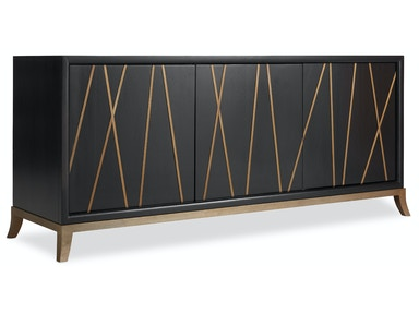 Hooker Furniture Entertainment Console 64in 5518-55464-BLK