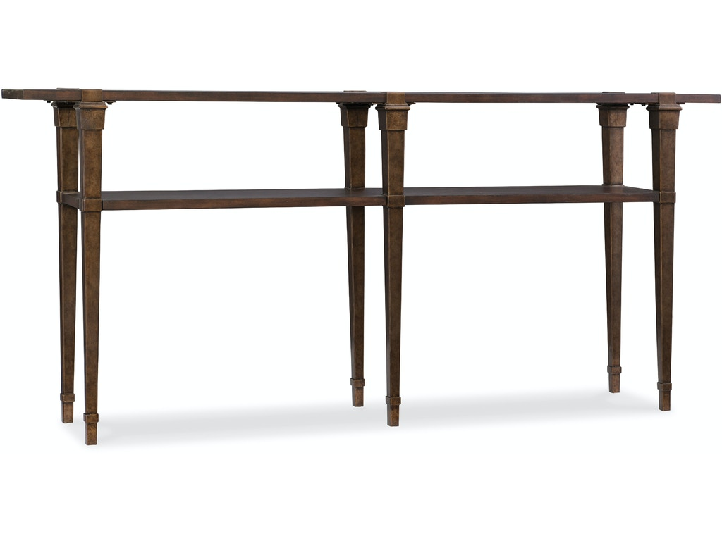 Hooker furniture skinny console table 5589 85001 dkw for Skinny console table