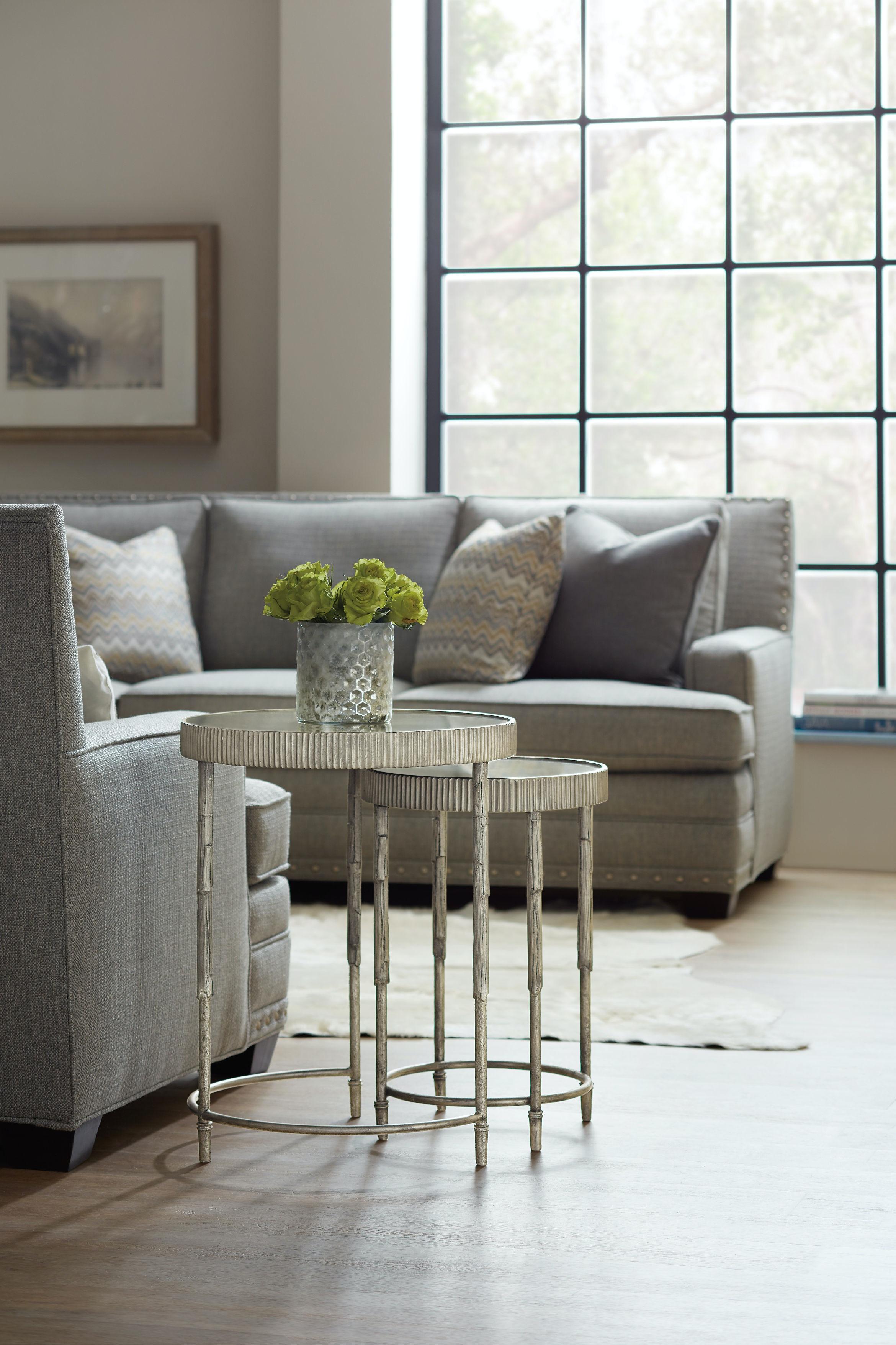 hooker furniture living room accent nesting tables 5594 50001 slv. Black Bedroom Furniture Sets. Home Design Ideas