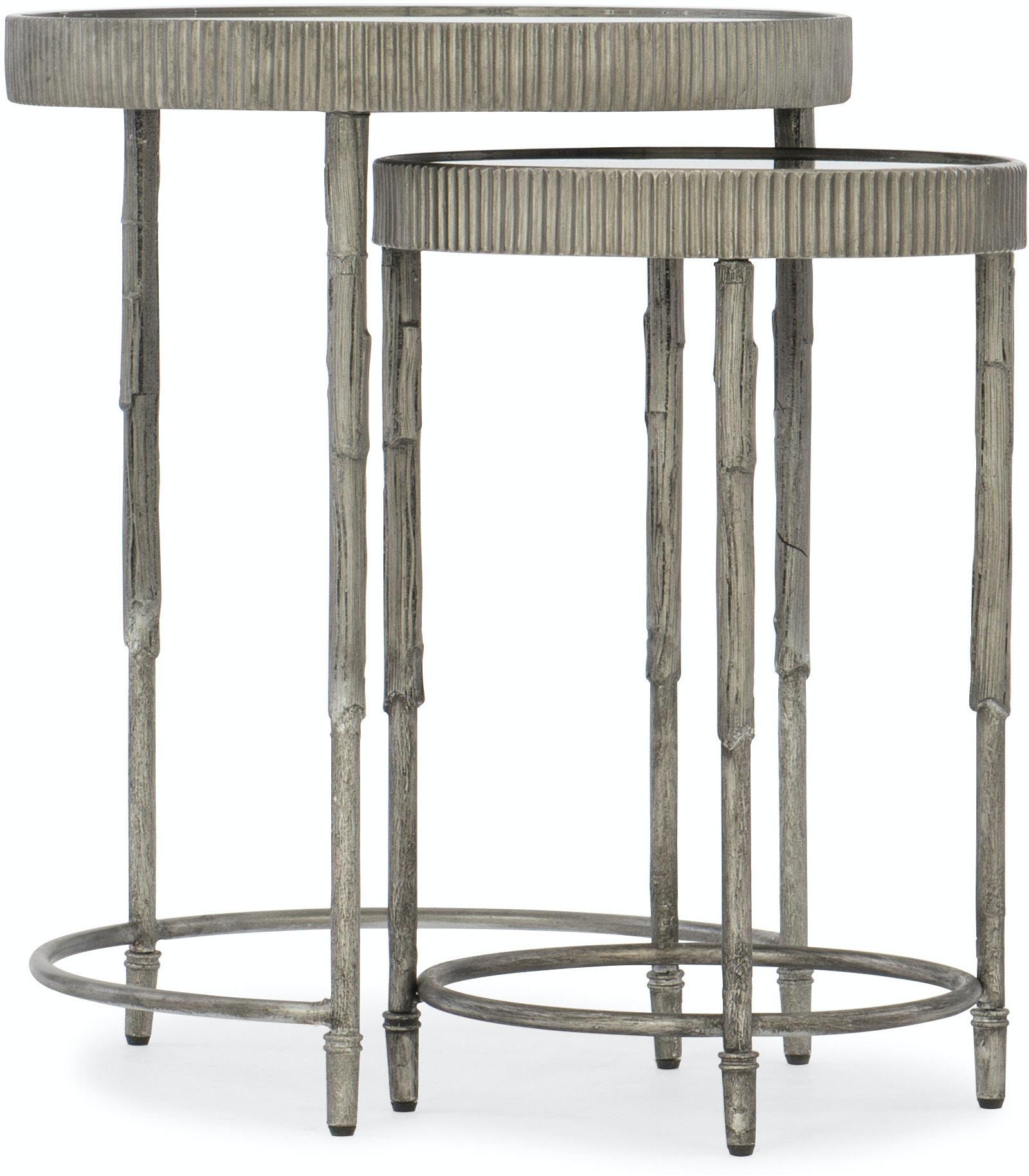 Hooker Furniture Living Room Accent Nesting Tables 5594-50001-SLV
