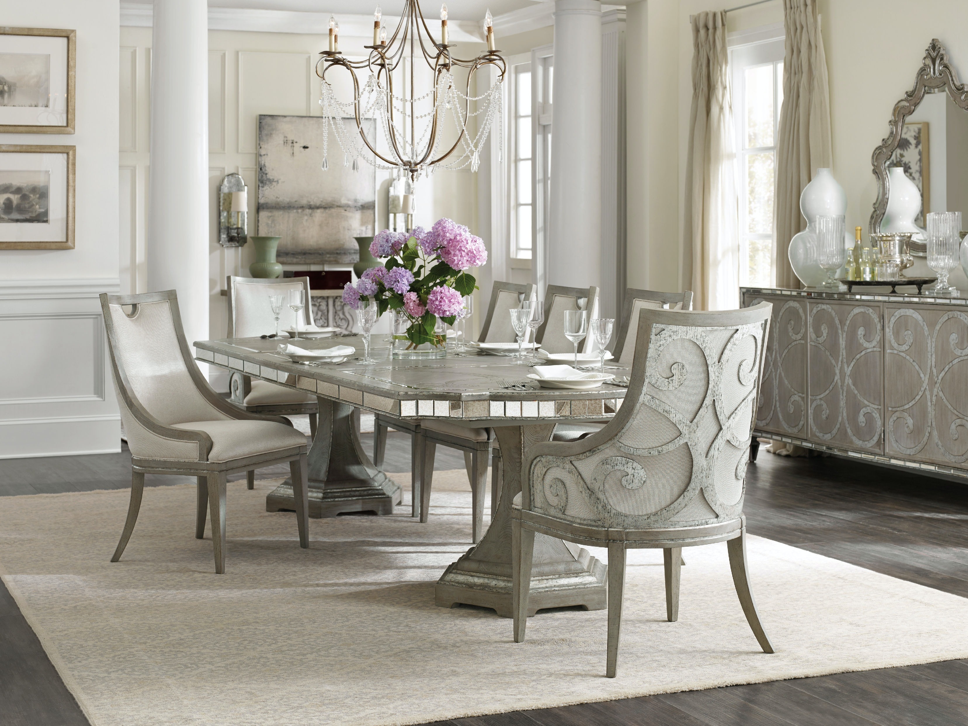 Hooker Furniture Dining Room Sanctuary Rectangle Dining Table W - Oblong dining table with leaf