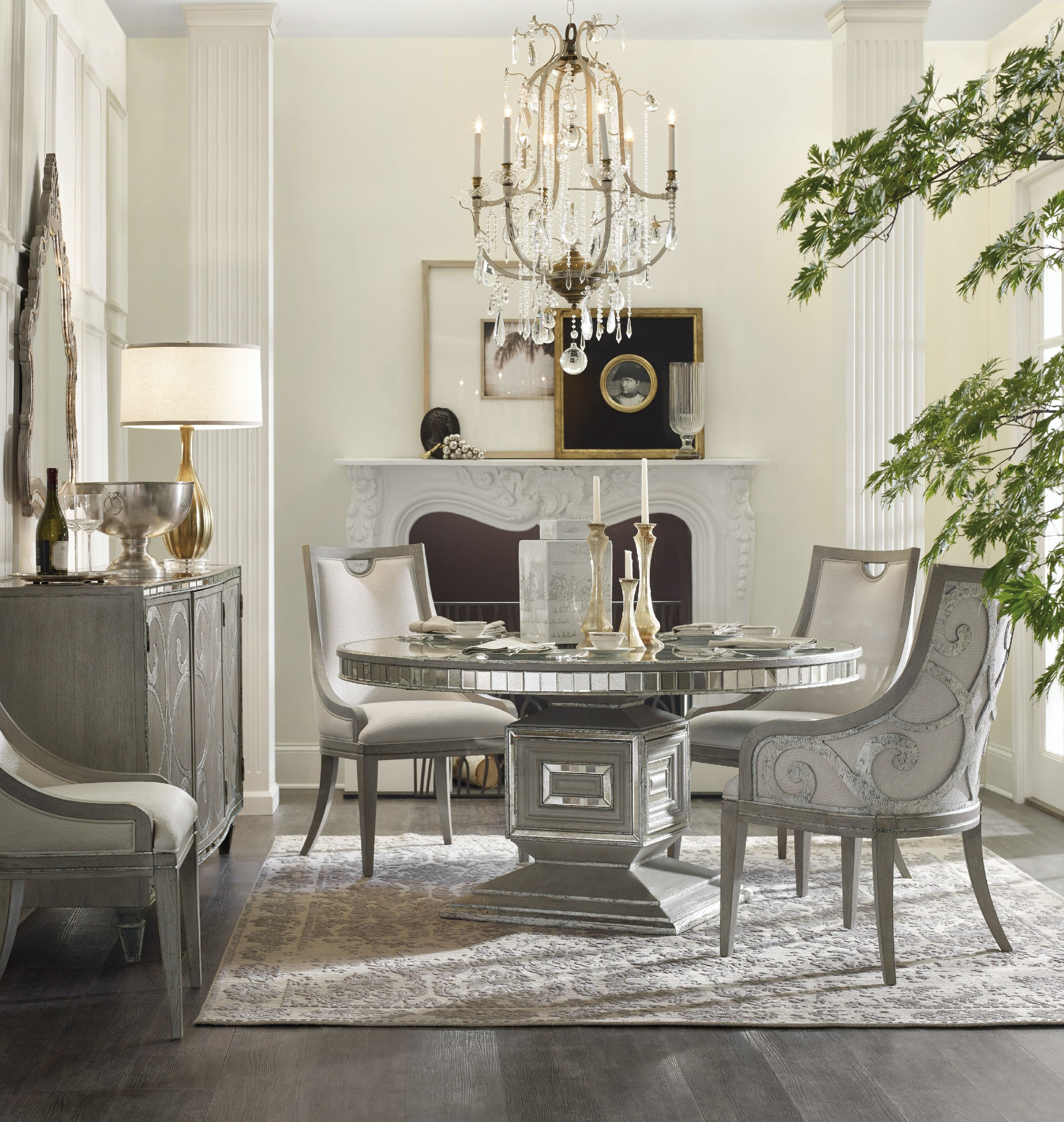 Hooker Furniture Dining Room Sanctuary Round Dining Table 5603