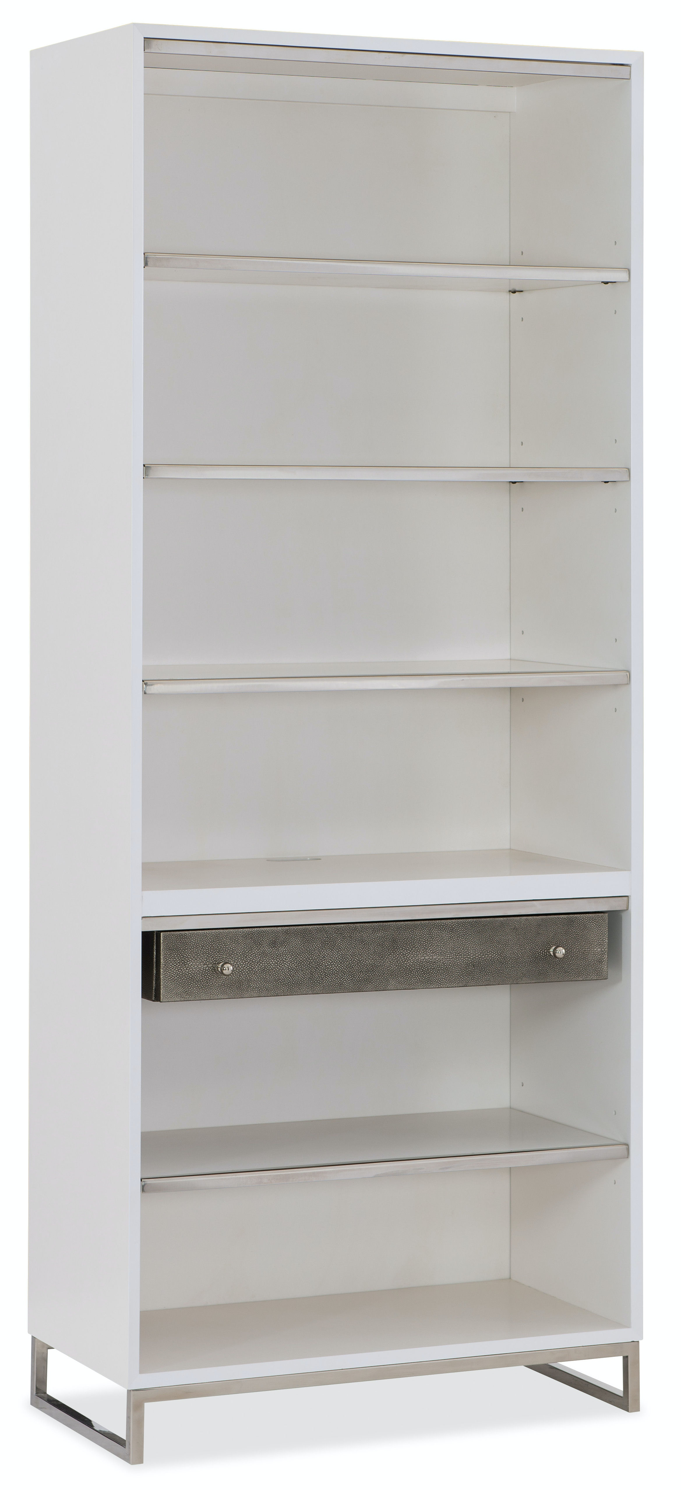 white office bookcase. 5622-10445-WH. Sophisticated Contemporary Bookcase White Office -