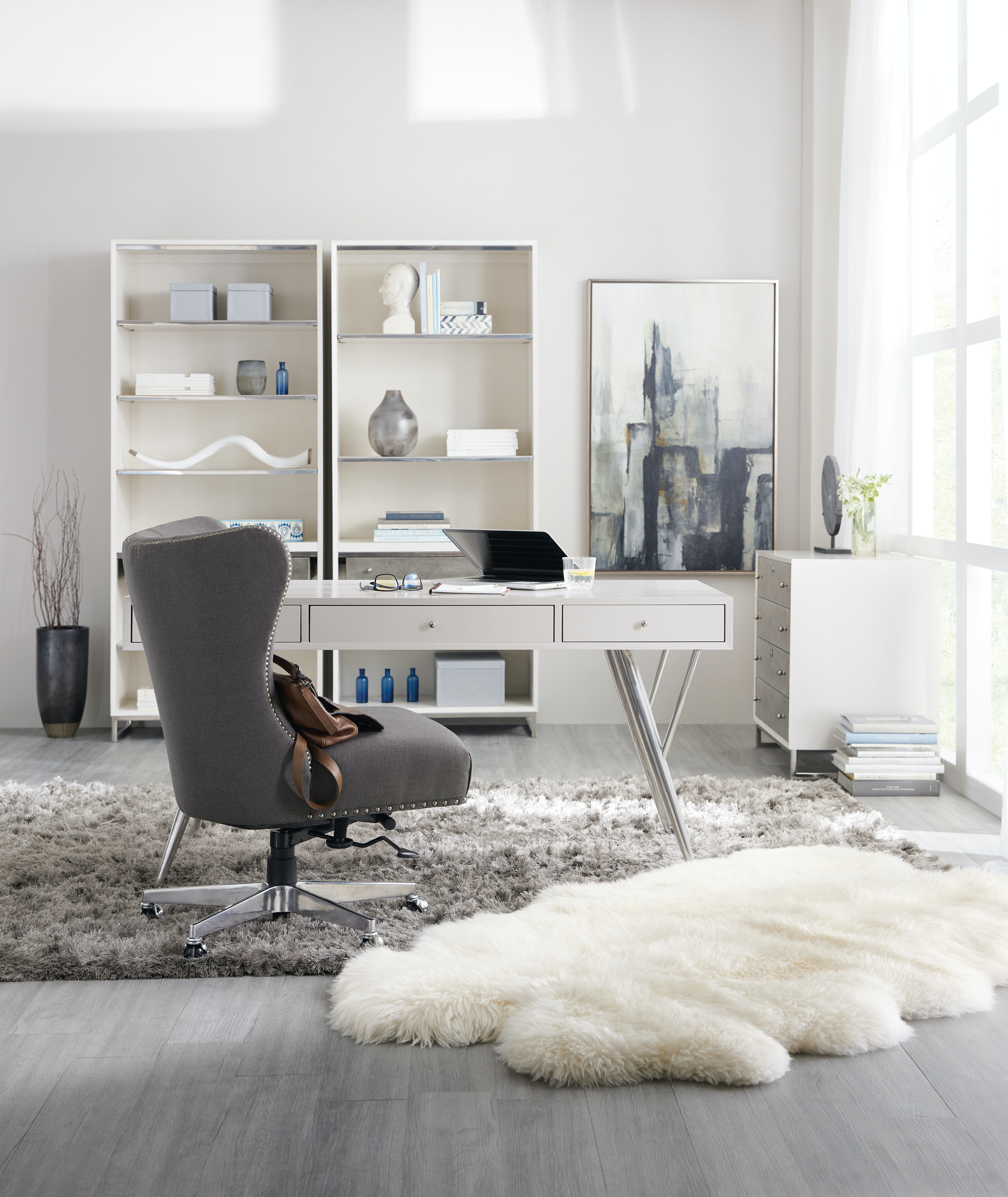 Hooker Furniture Home Office Sophisticated Contemporary Writing Desk ...