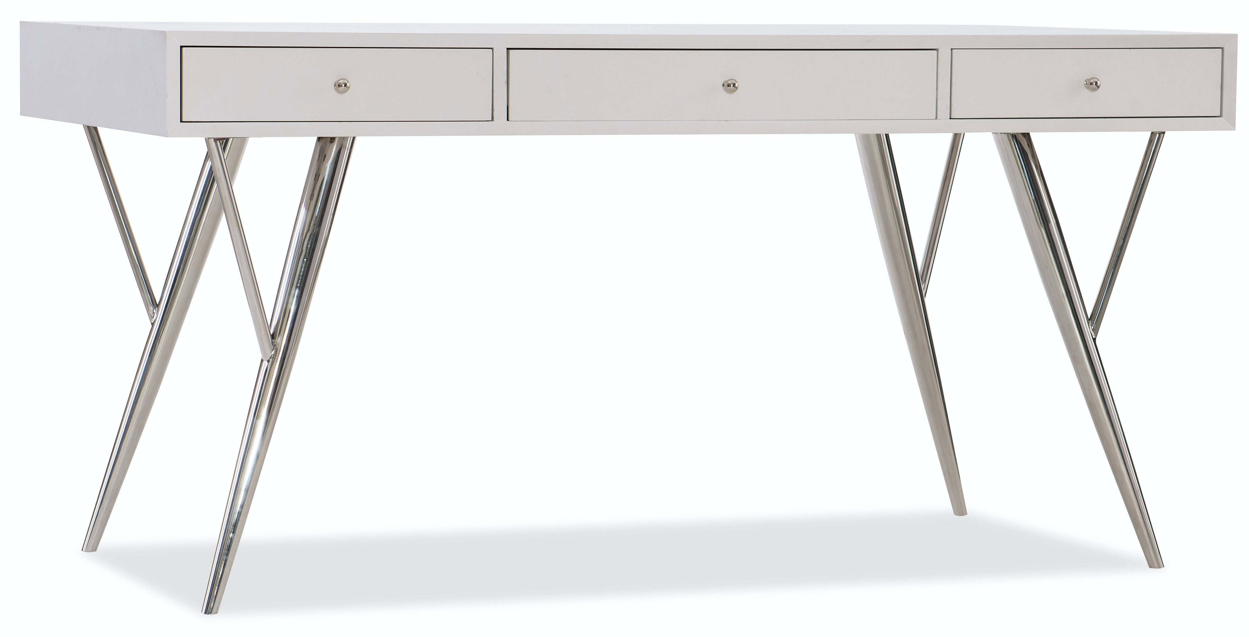 home office writing desk. Hooker Furniture Sophisticated Contemporary Writing Desk 60in 5622-10460-WH Home Office Writing Desk