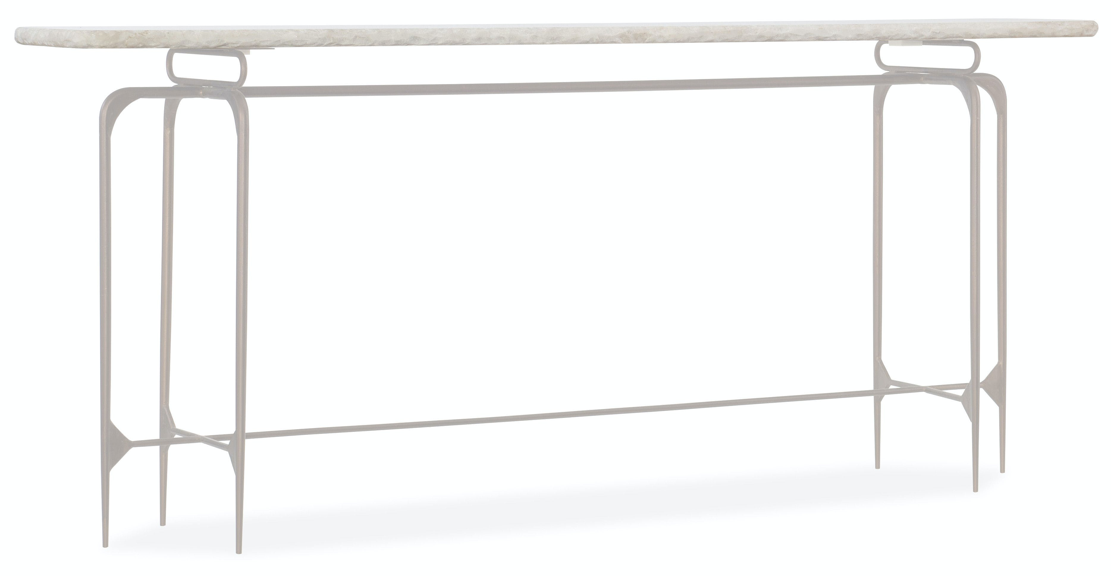 Picture of: Hooker Furniture Living Room Skinny Metal Console 5633 85001 Wh