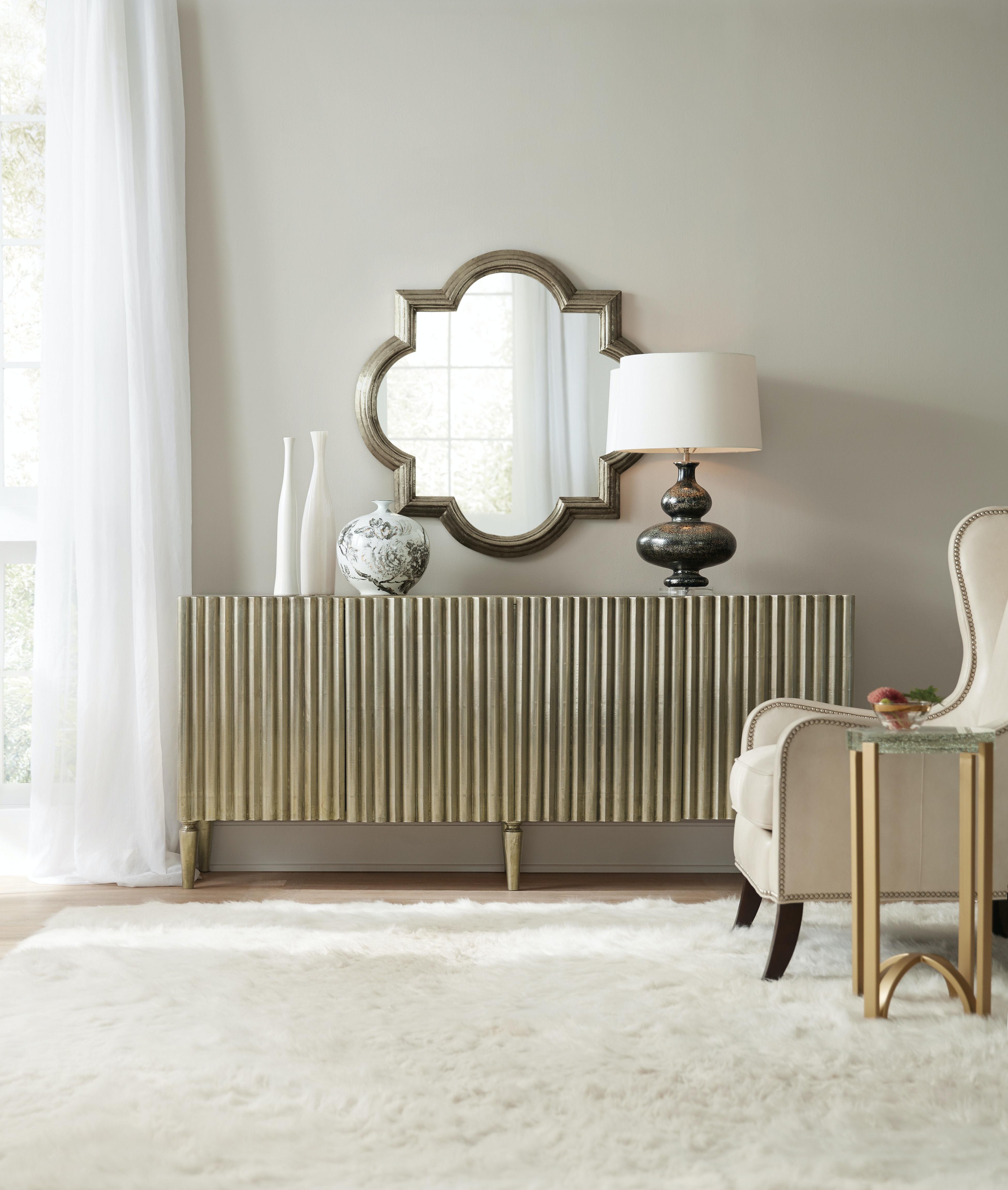 Hooker Furniture Living Room German Silver Console 5637-85001-SLV