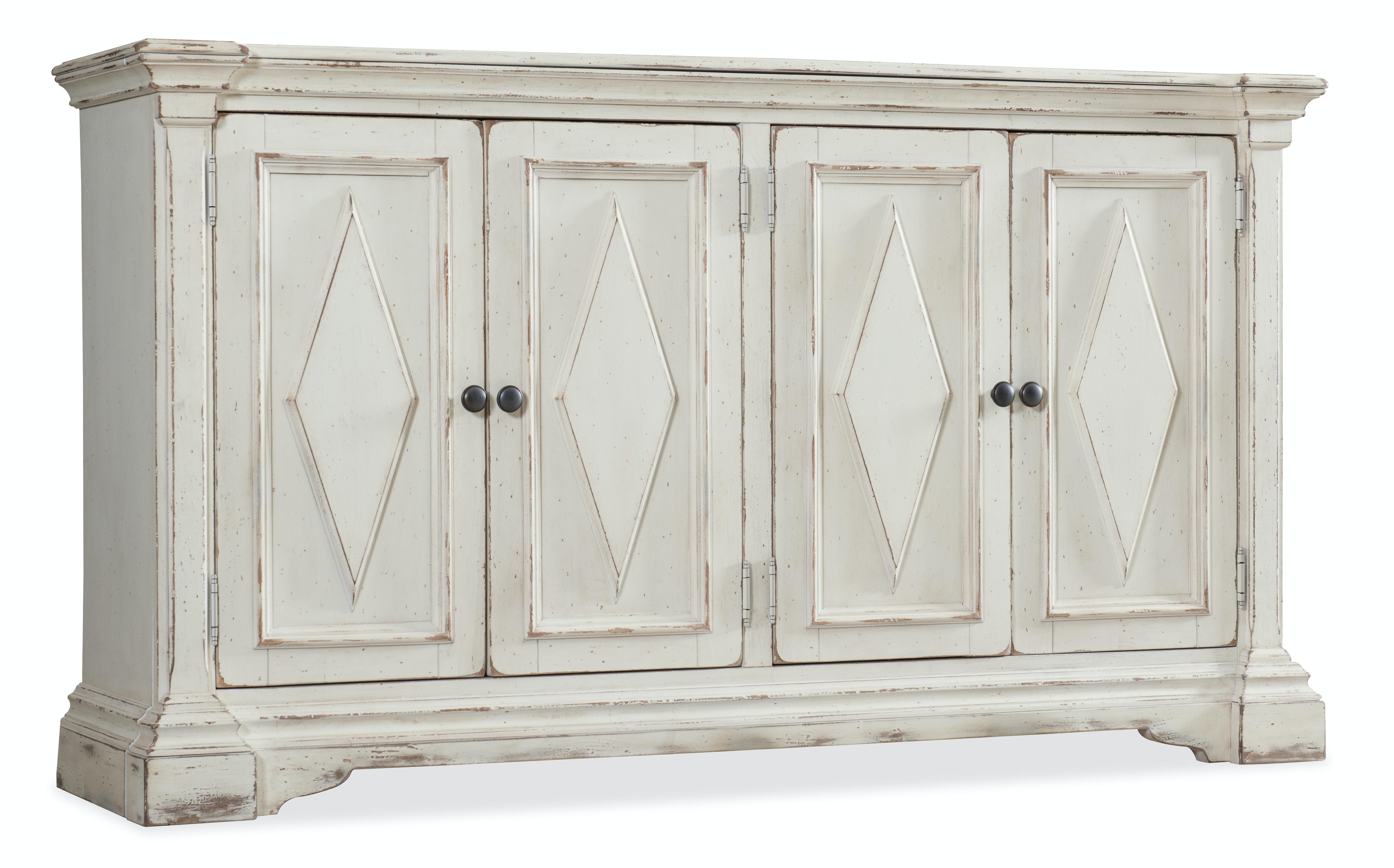 Hooker Furniture Living Room Four-Door Cabinet 5662-85001-WH