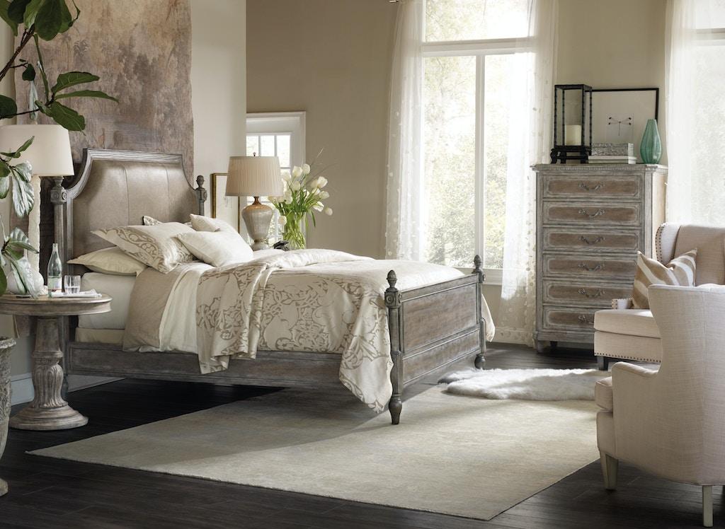 king metal bedroom studio upholstered product slumbr bed furniture hooker