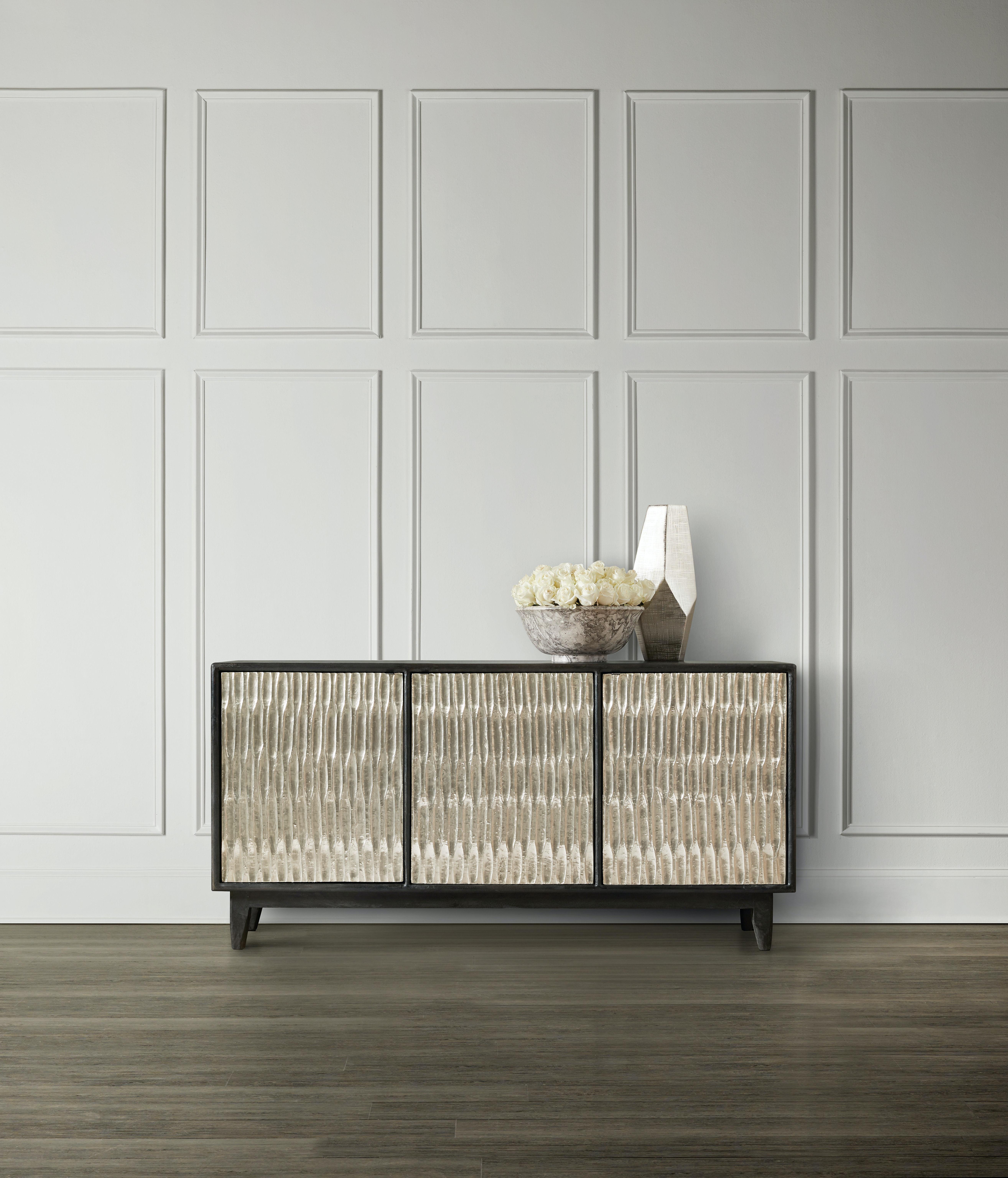 Hooker Furniture Living Room Shimmer Three-Door Credenza 5716-85001-SLV