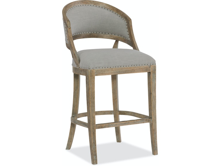 Furniture Boheme Garnier Barrel Back Bar Stool 5750 20360 Mwd