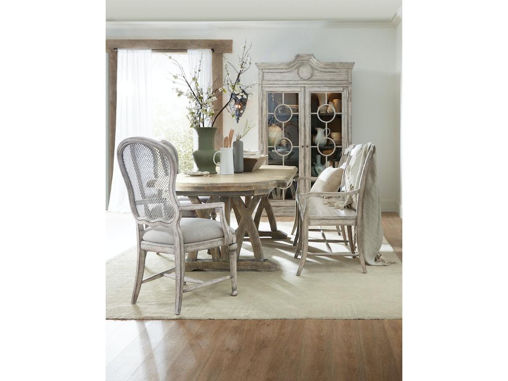 hooker furniture dining room boheme du monde ladderback dining bench 5750 75315 ltwd noel. Black Bedroom Furniture Sets. Home Design Ideas