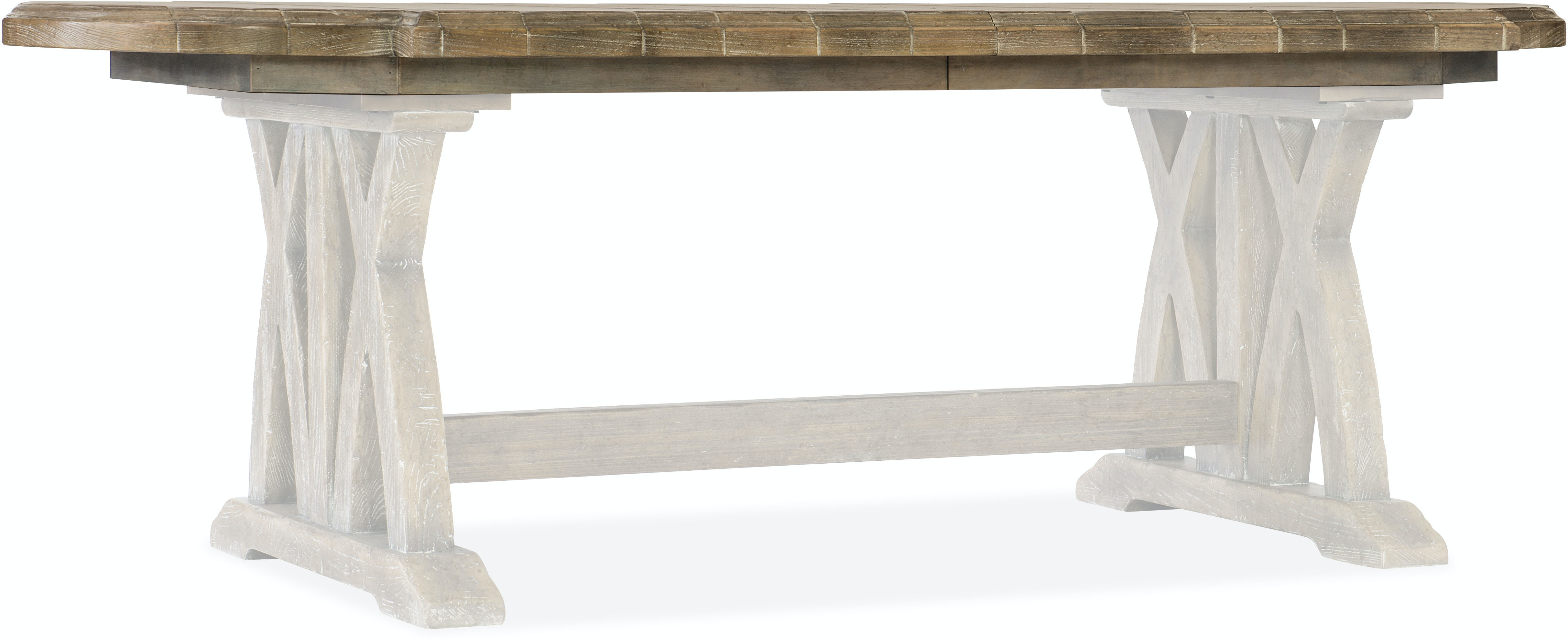Hooker Furniture Dining Room Boheme Colibri 88in Trestle Dining Table W 1 20in Leaf 5750 75200 Mwd