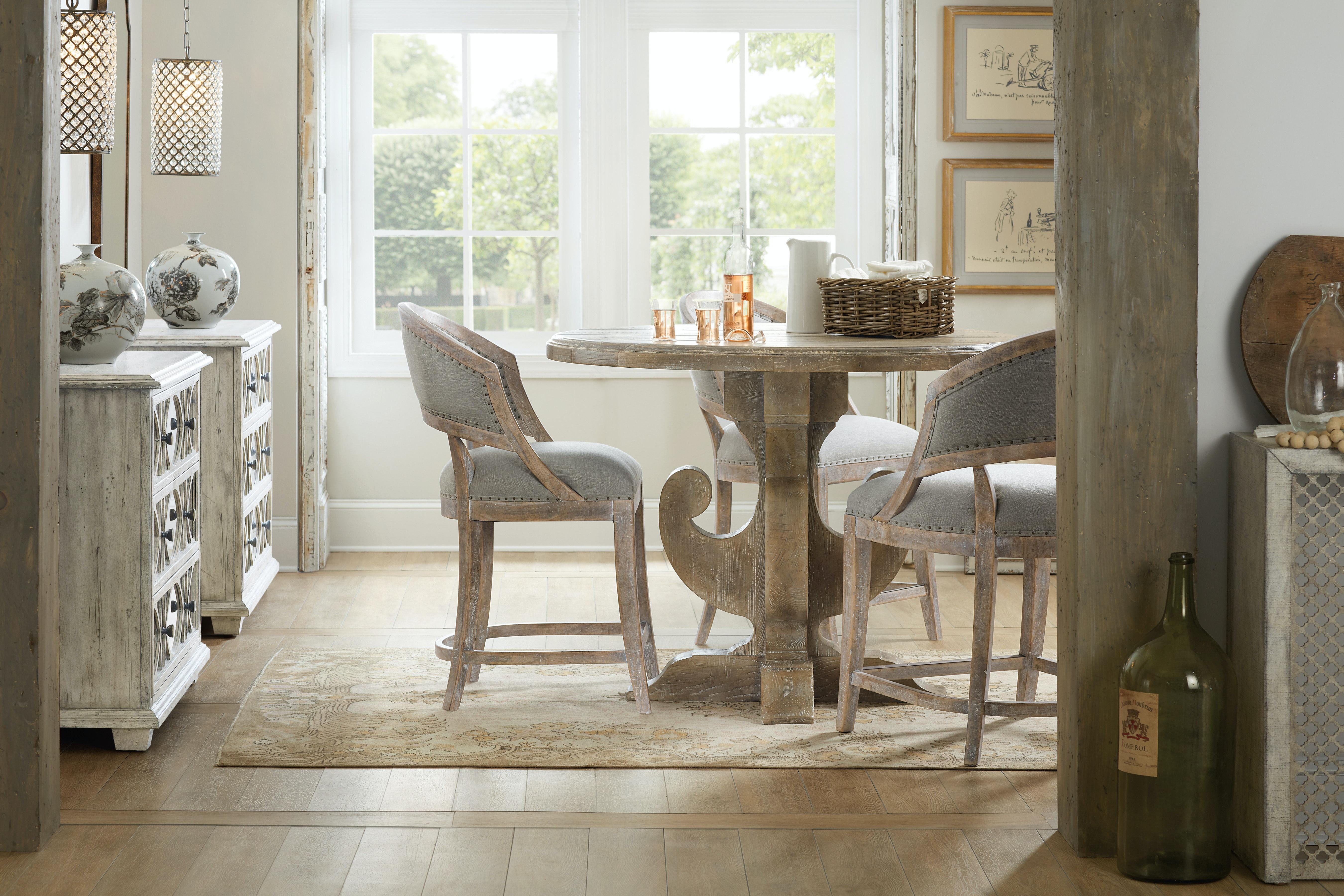hooker furniture dining room boheme ascension 48in wood round dining table 5750 75203 mwd. Black Bedroom Furniture Sets. Home Design Ideas