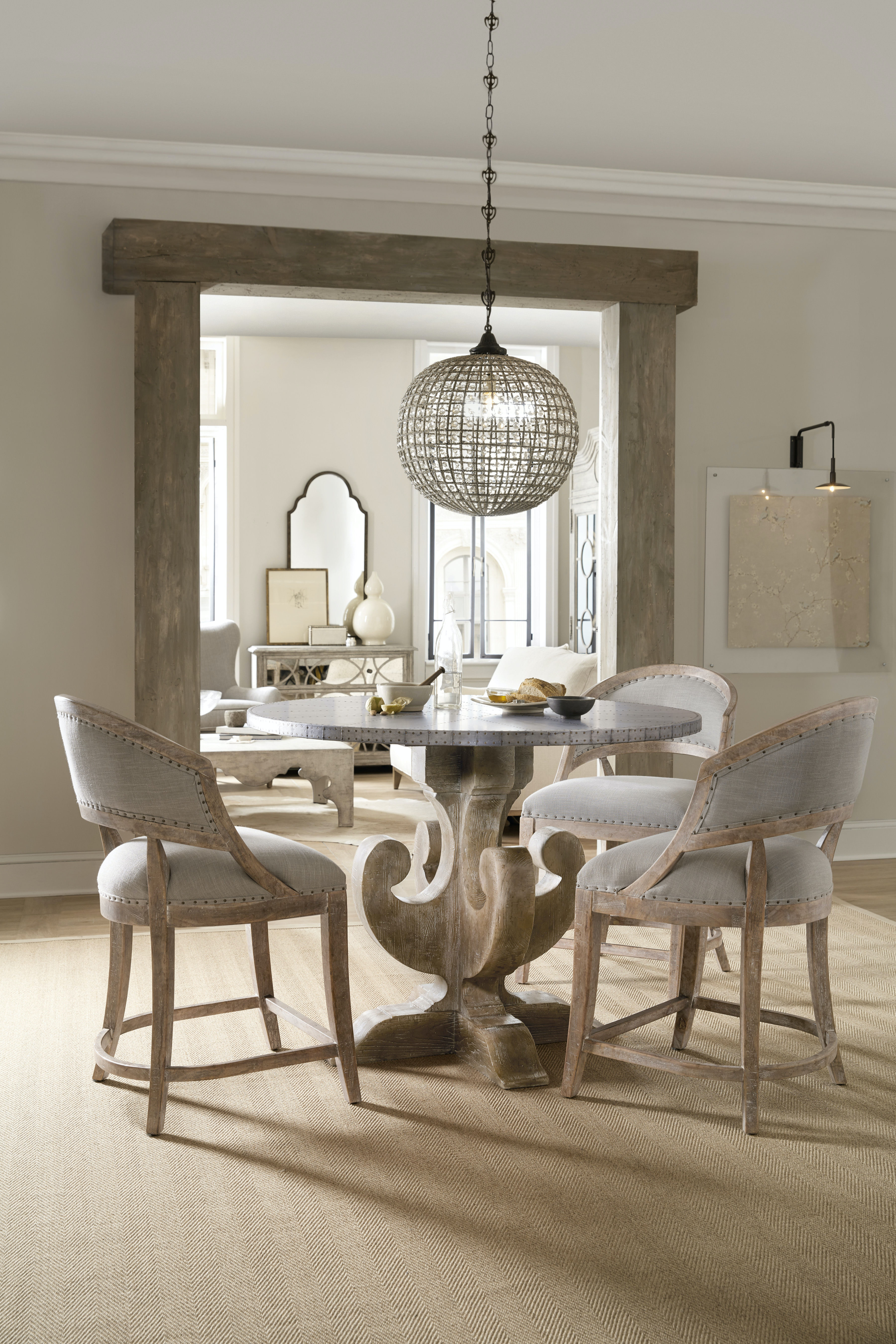 hooker furniture dining room boheme ascension 48in wood round hooker furniture boheme ascension 48in wood round dining table 5750 75203 mwd
