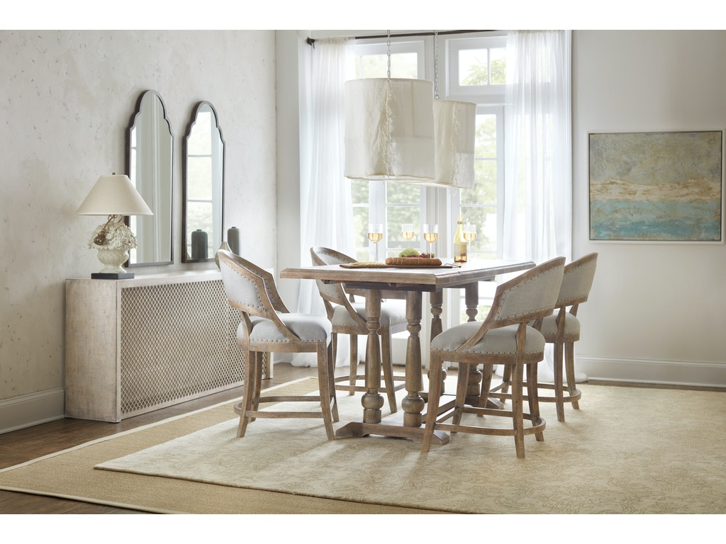 Boheme belvue linen wrapped console 5750 85001 multi for Walter e smithe dining room sets