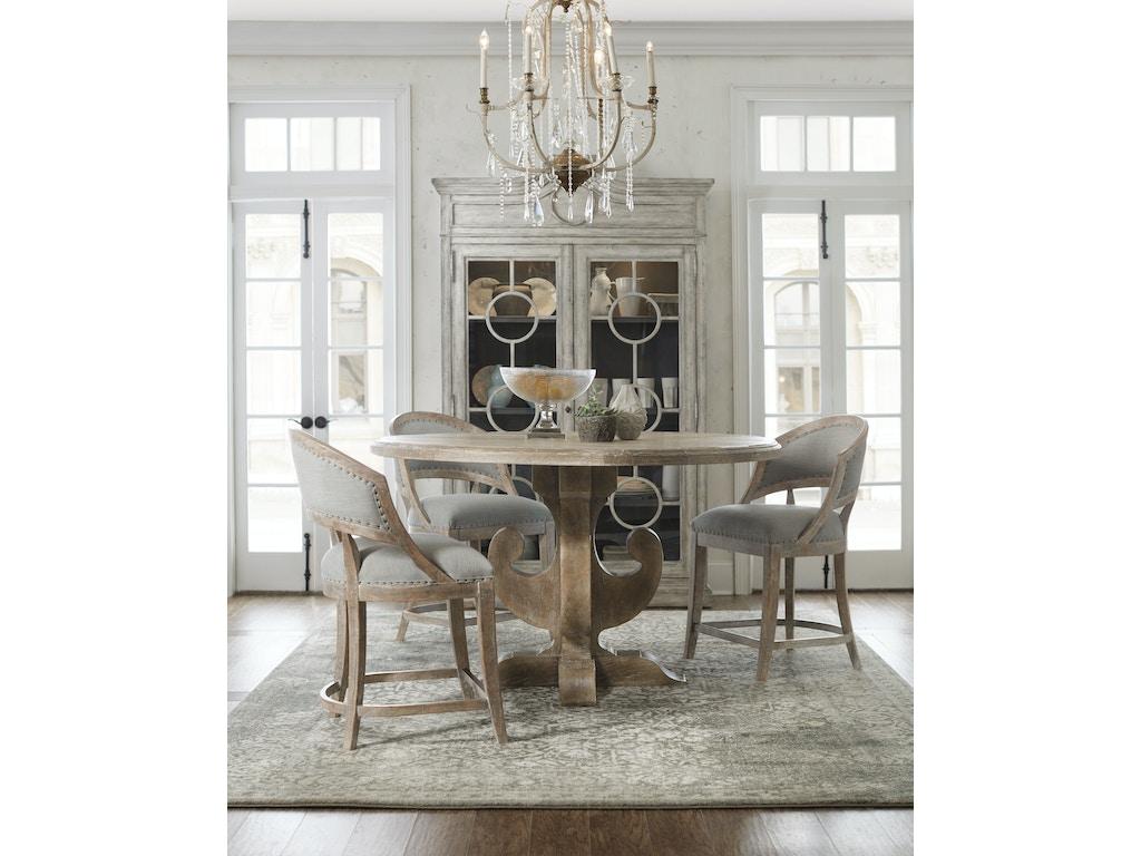 hooker furniture dining room boheme ascension 60in wood round dining table 5750 75213 mwd. Black Bedroom Furniture Sets. Home Design Ideas