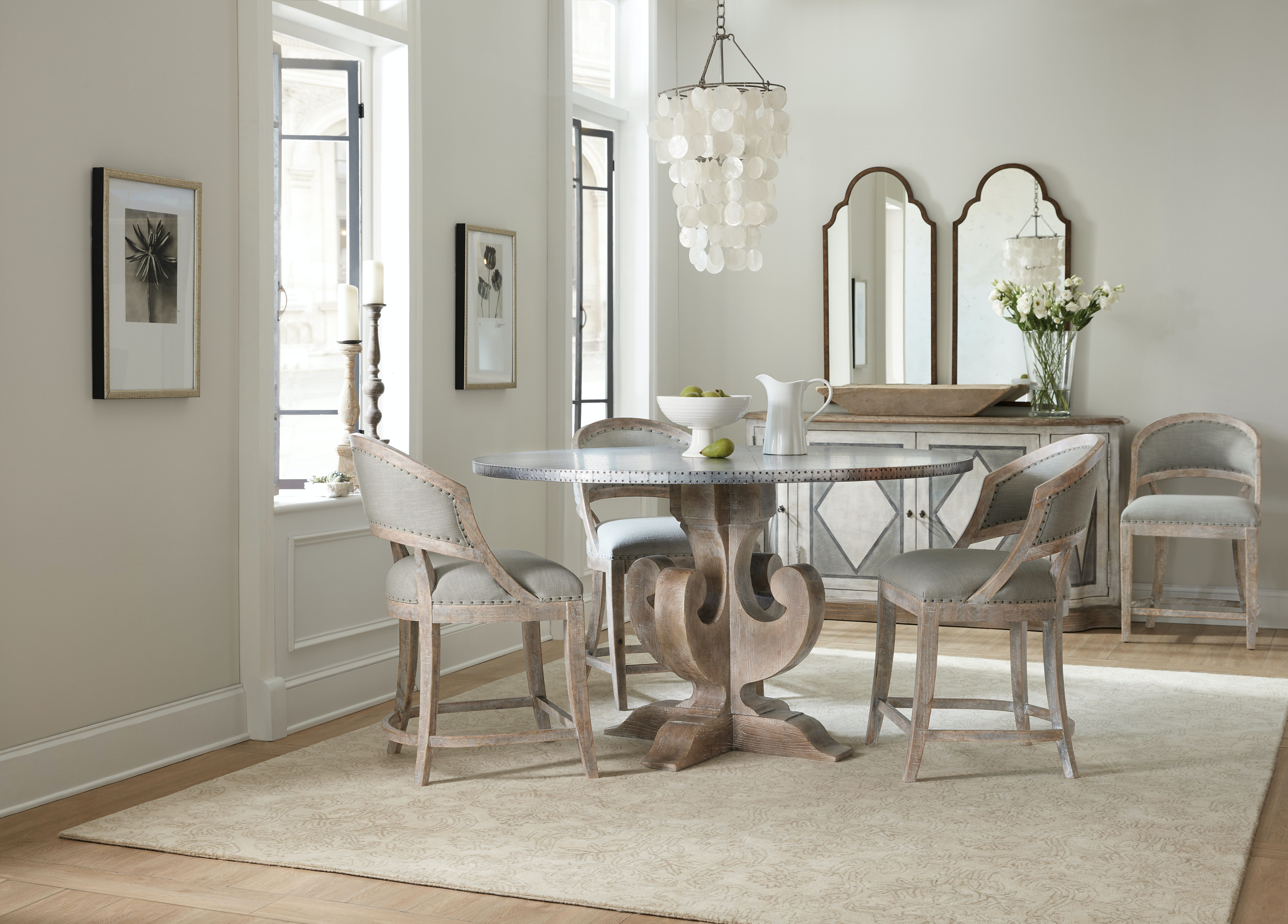 Hooker Furniture Dining Room Boheme Ascension 60in Zinc Round