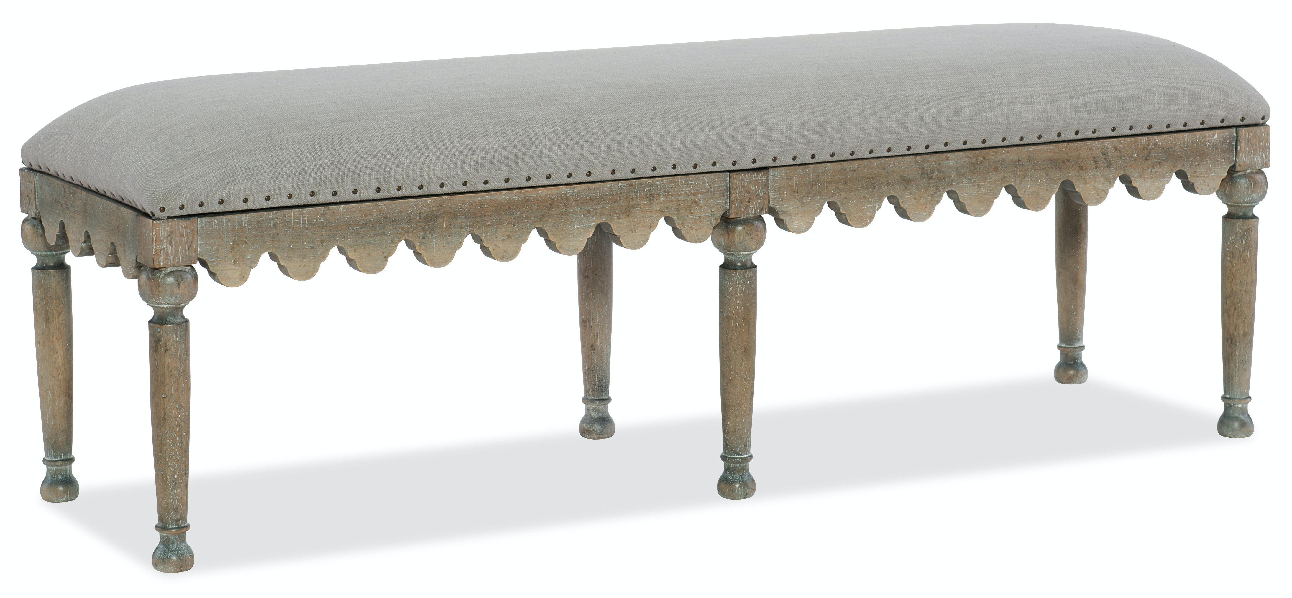 Hooker Furniture Bedroom Boheme Madera Bed Bench 5750-90019-MWD