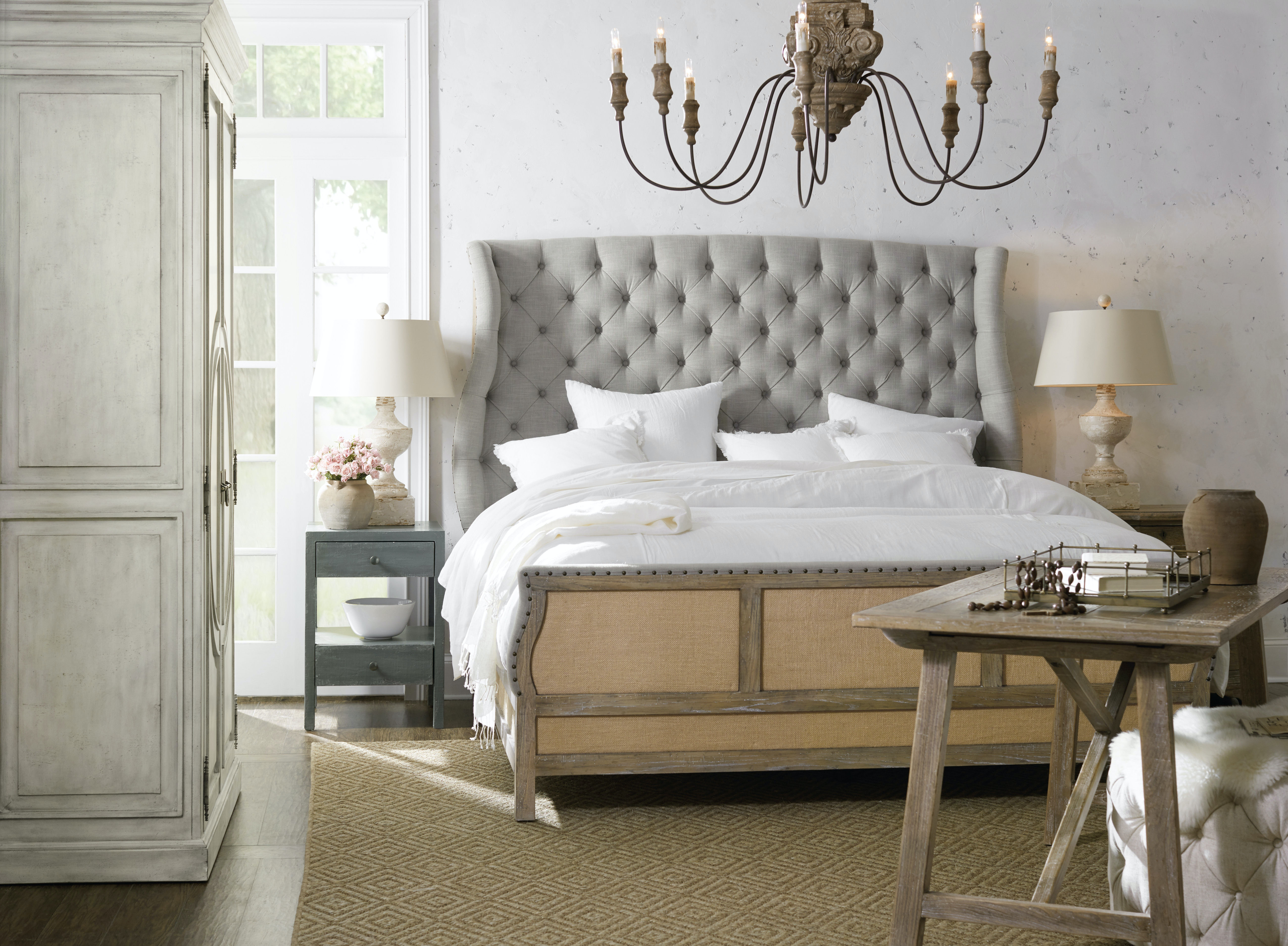 Hooker Furniture Bedroom Boheme Bon Vivant DeConstructed Queen Uph