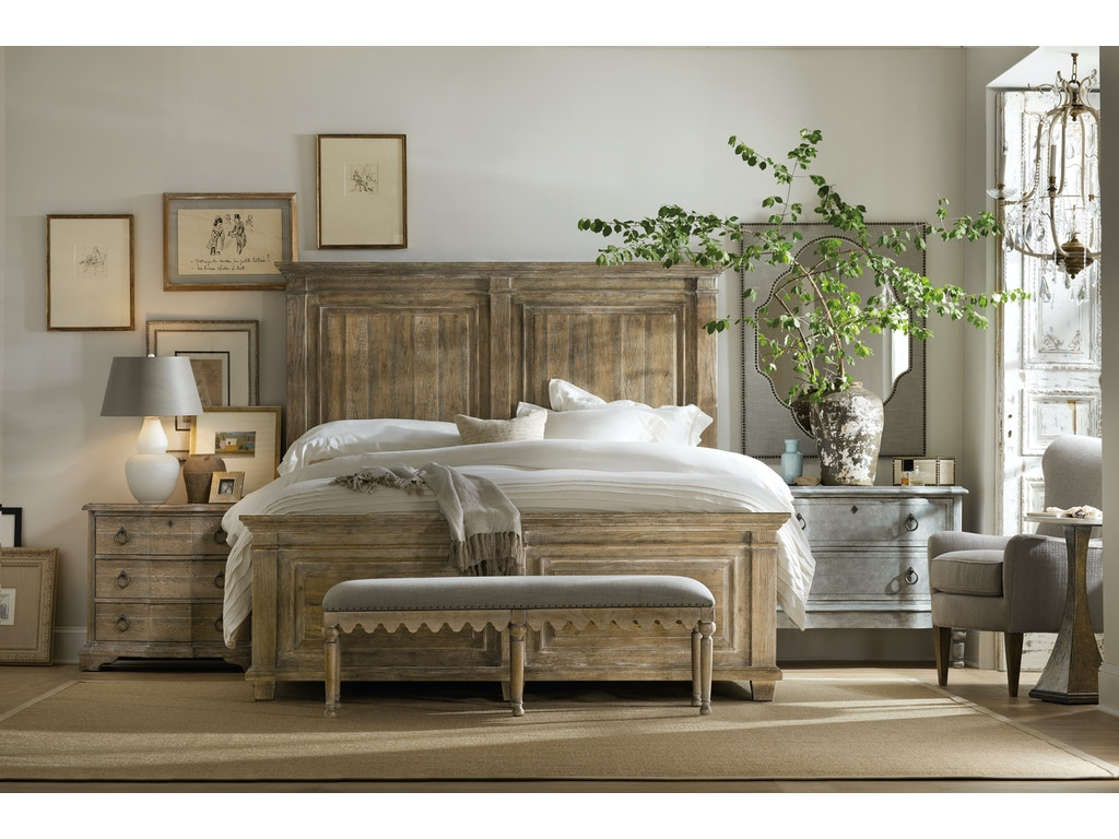 Hooker Furniture Bedroom Boheme Madera Bed Bench 5750 90019 Mwd Howell Furniture Beaumont