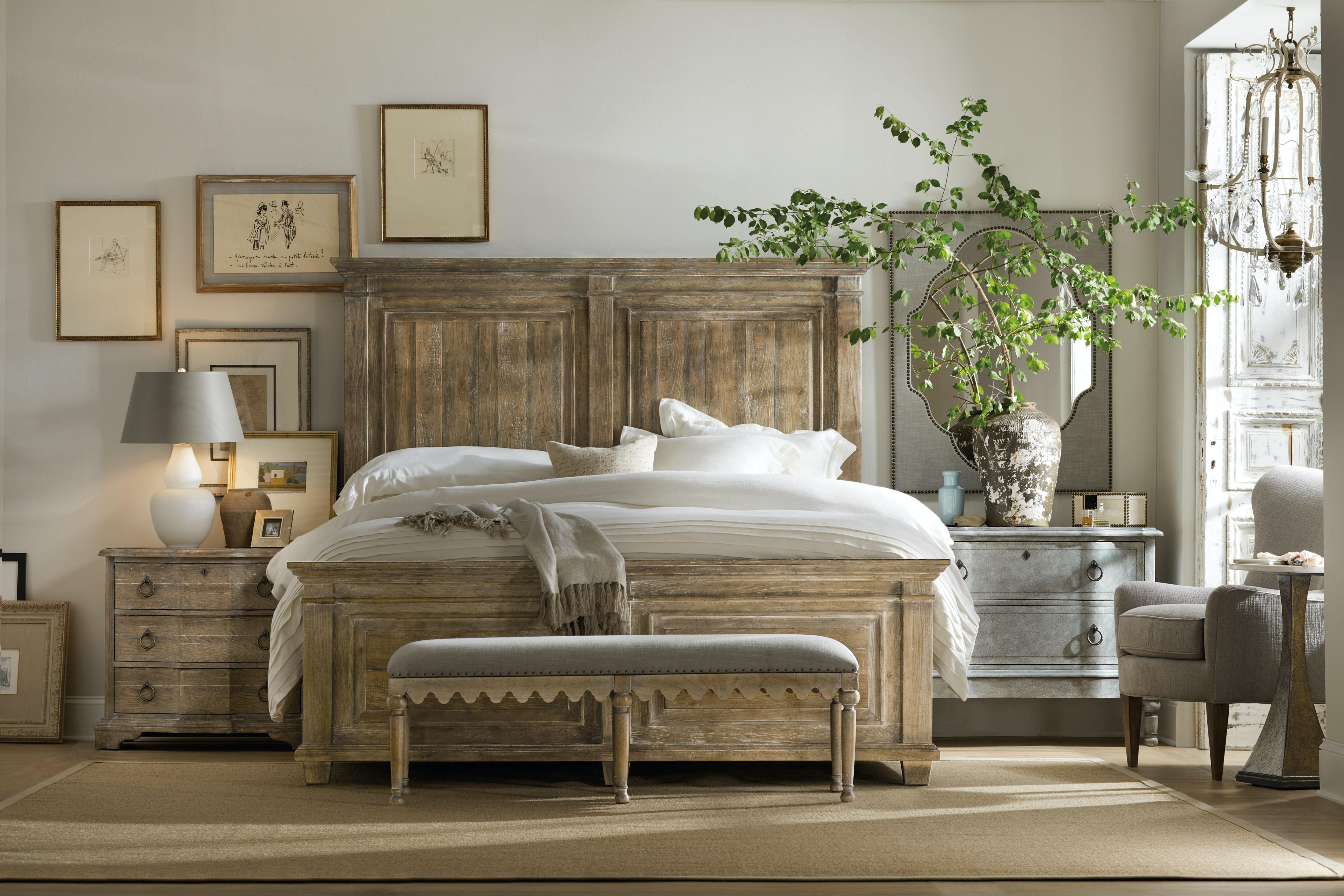 Attrayant Hooker Furniture Boheme Laurier Queen Panel Bed 5750 90250 MWD