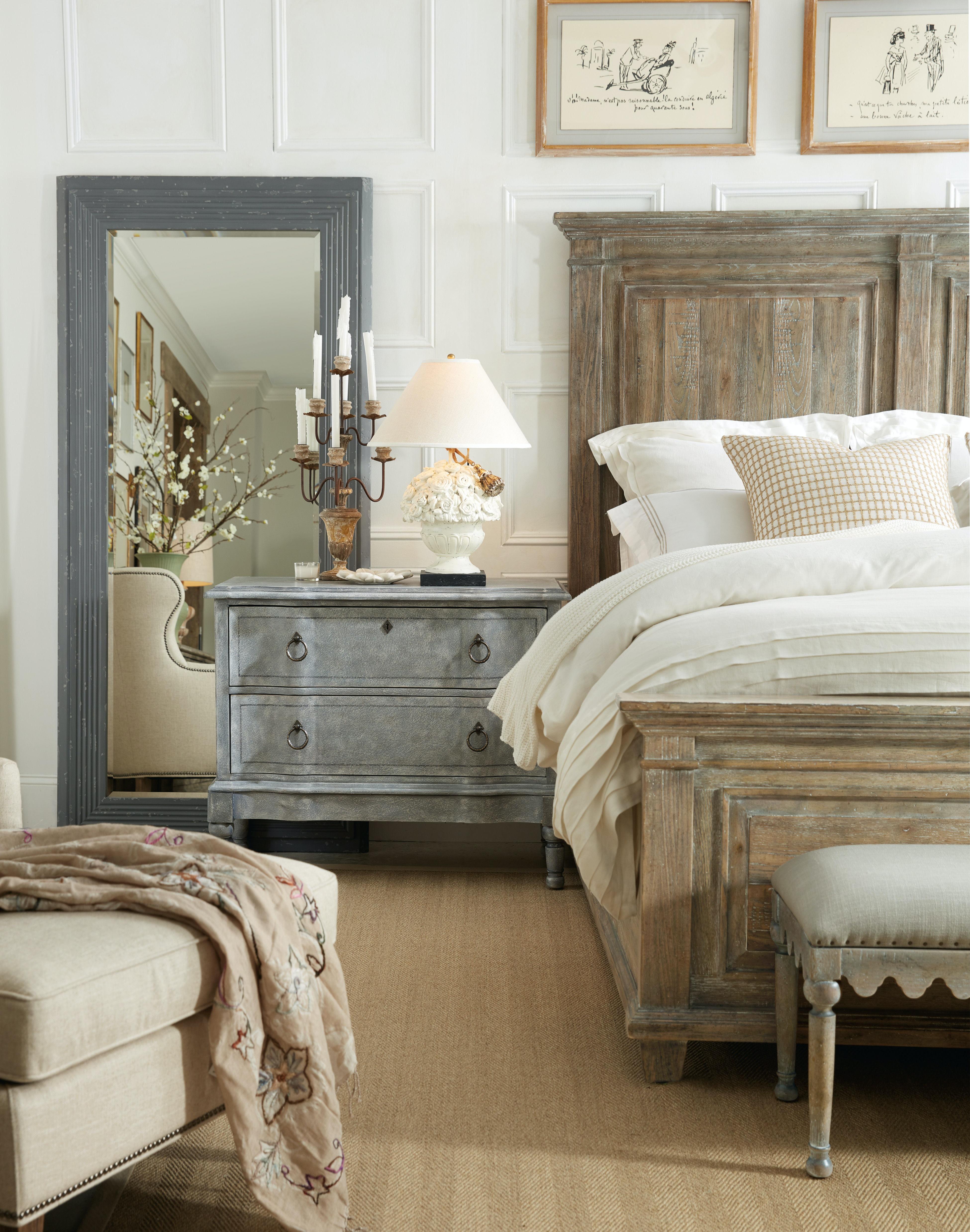 Hooker Furniture Bedroom Boheme Laurier Queen Panel Bed 5750-90250-MWD