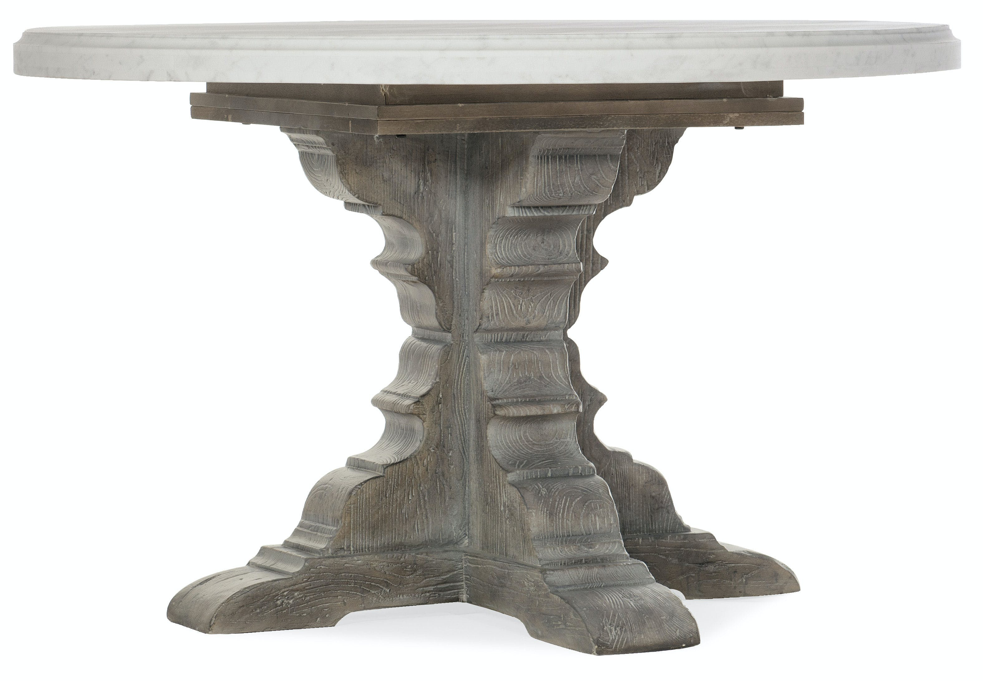 Hooker Furniture Dining Room Beaumont Round Dining Table With 48in Marble Top 5751 75213 00