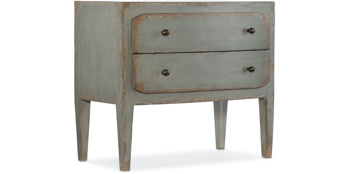 Ciao Bella Two Drawer Nightstand Speckled Gray Hs58059001695