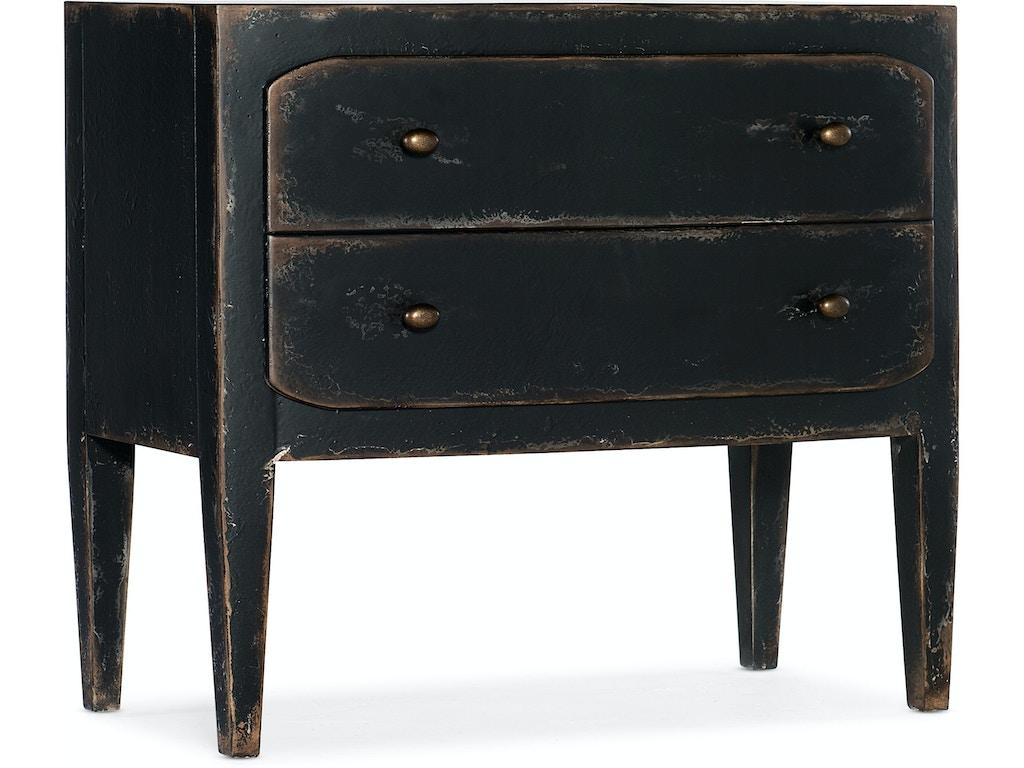 Hooker Furniture Bedroom Ciao Bella Two-Drawer Nightstand- Black  5805-90016-99