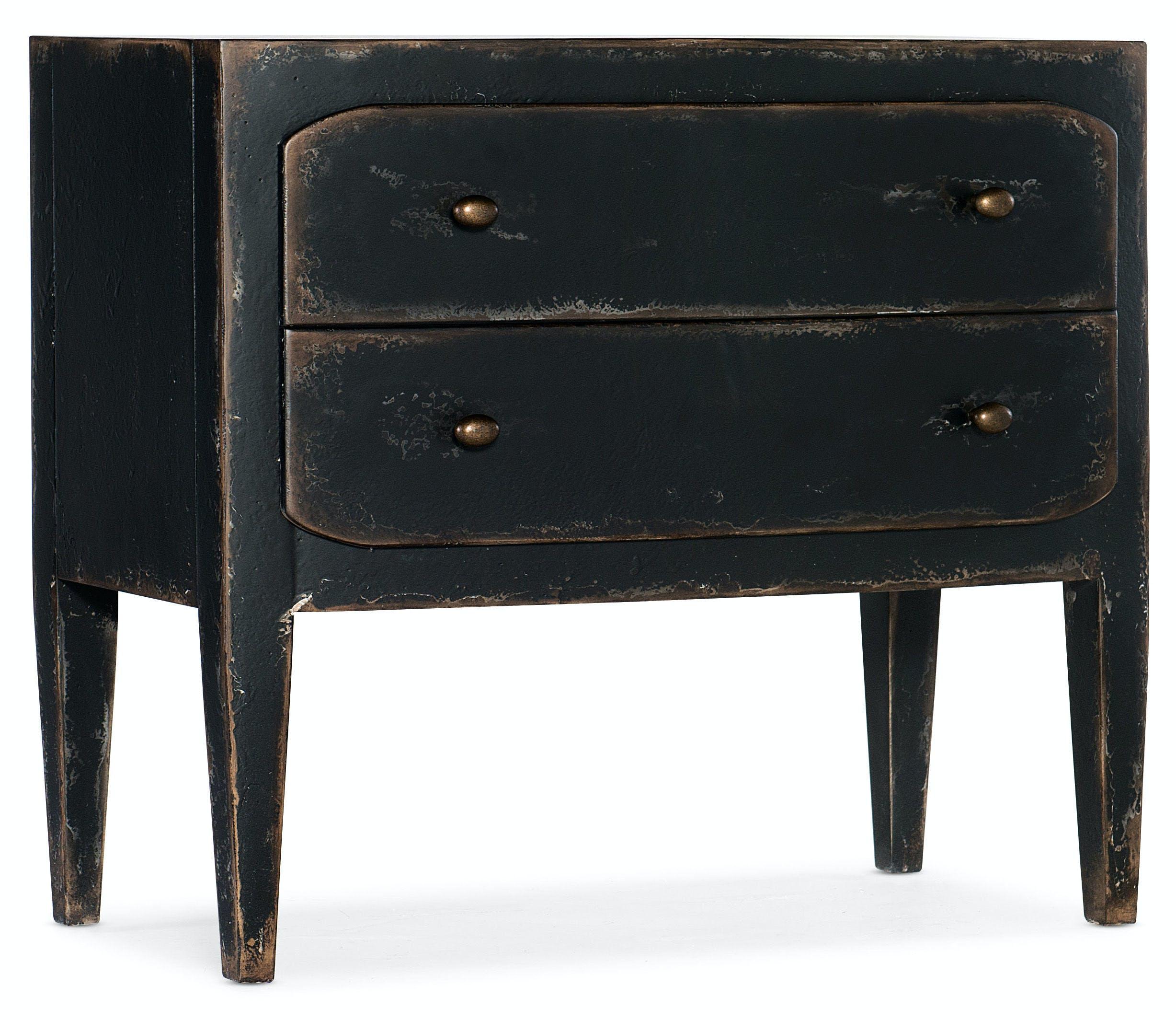 Hooker Furniture Bedroom Ciao Bella Two Drawer Nightstand Black 5805 90016 99