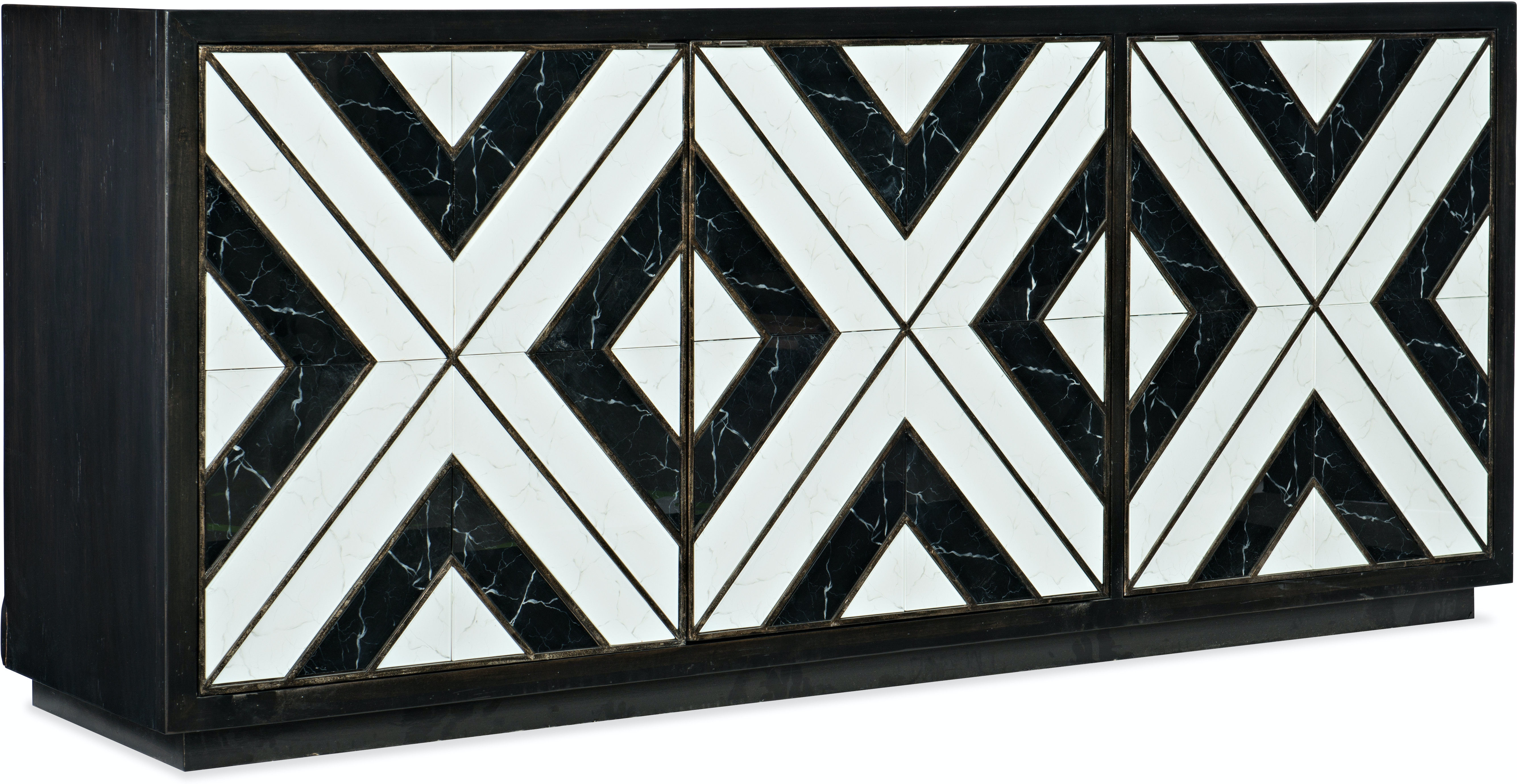 Photo Noir Et Blanc Design hooker furniture home entertainment sanctuary noir et blanc entertainment  console hs58755548000 walter e. smithe furniture + design