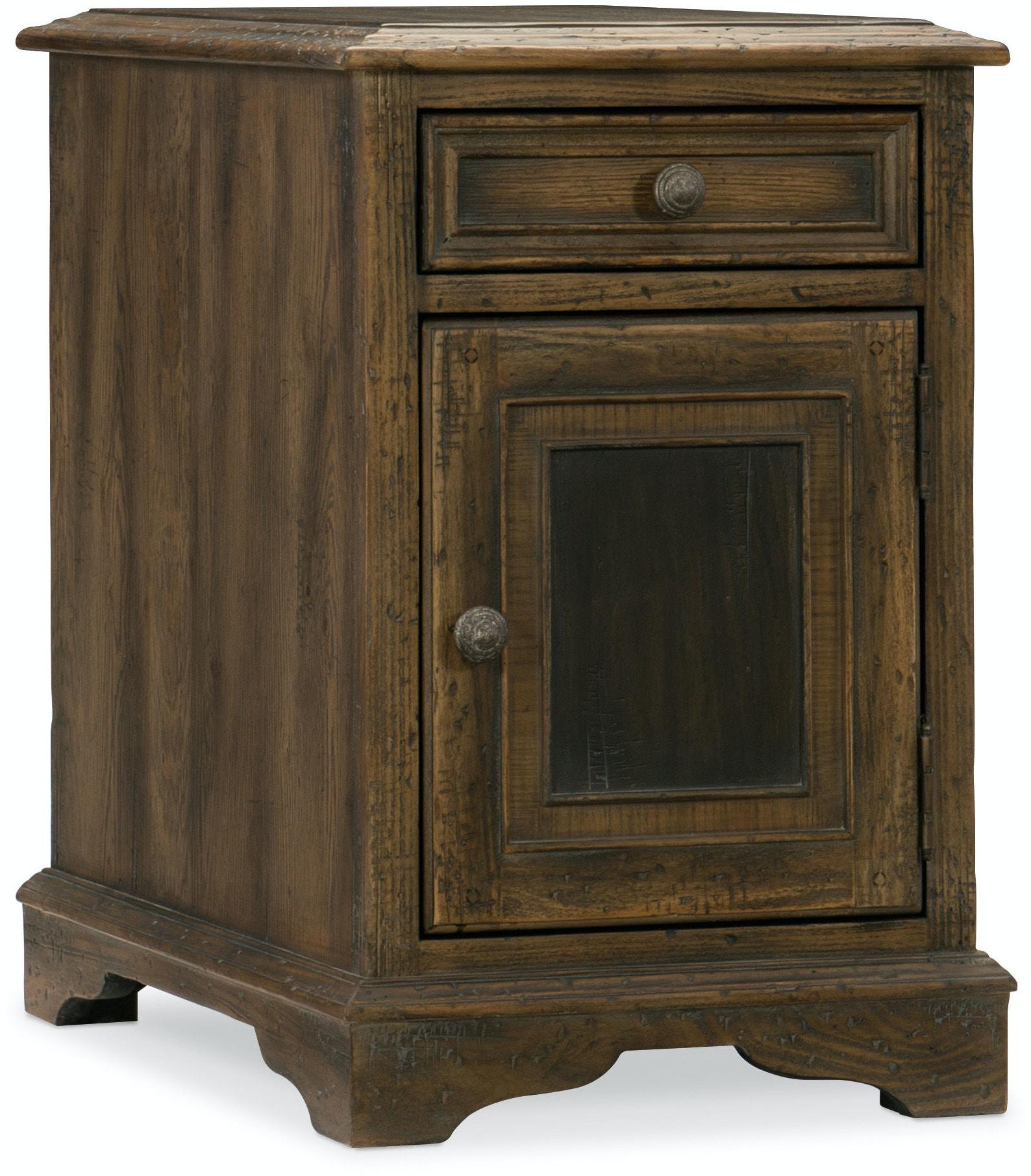 hooker furniture living room dewees chairside table 5960 50008 multi