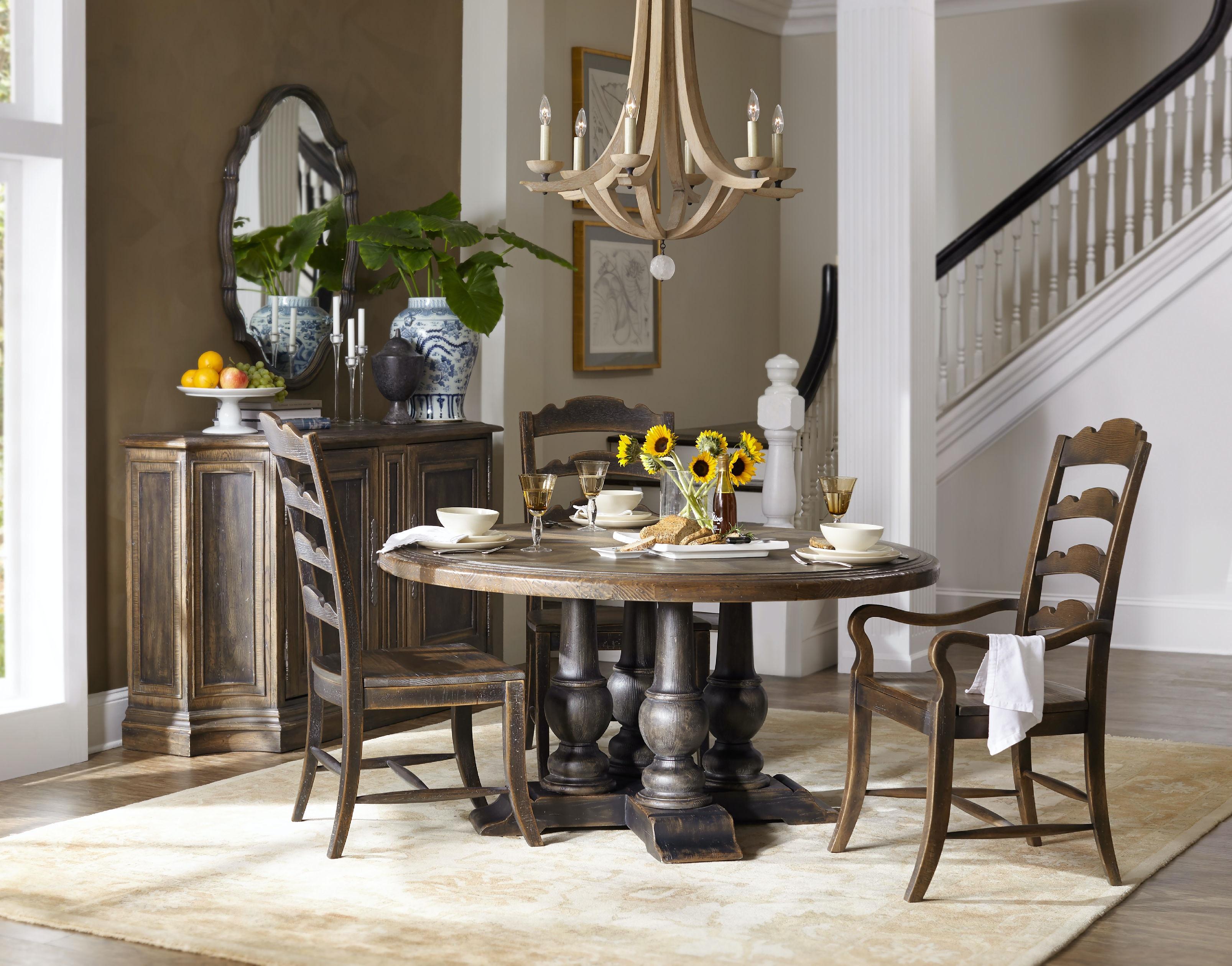 hooker furniture dining room applewhite 60in round dining table 5960 75203 brn. Black Bedroom Furniture Sets. Home Design Ideas