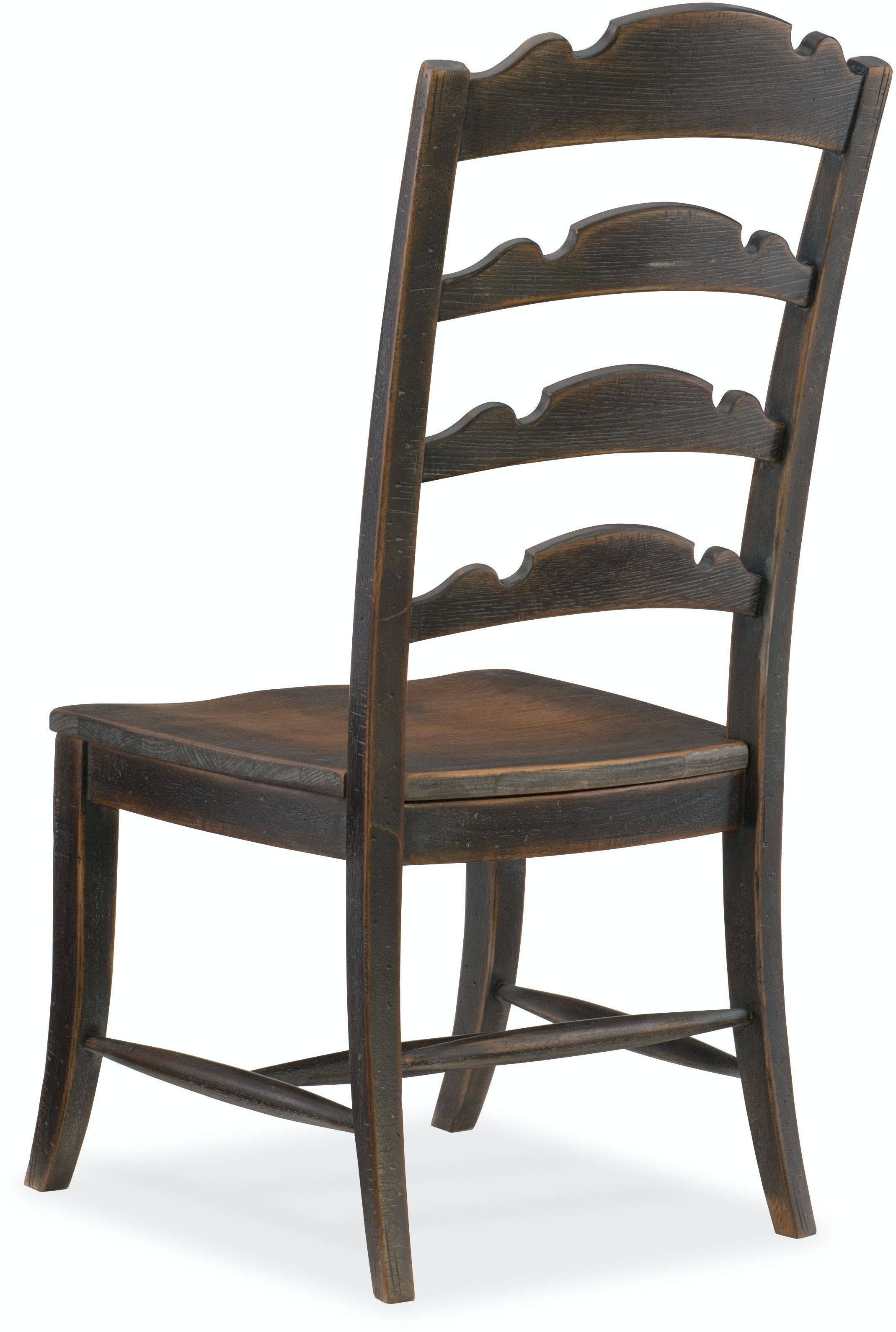 Hooker Furniture Dining Room Twin Sisters Ladderback Side Chair 5960 75310 Blk