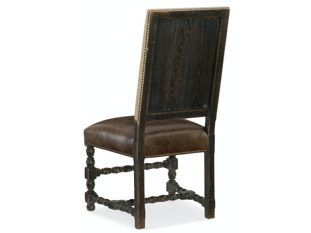 Hooker Furniture Dining Room Comfort Upholstered Side Chair 5960 75410 Blk Flemington