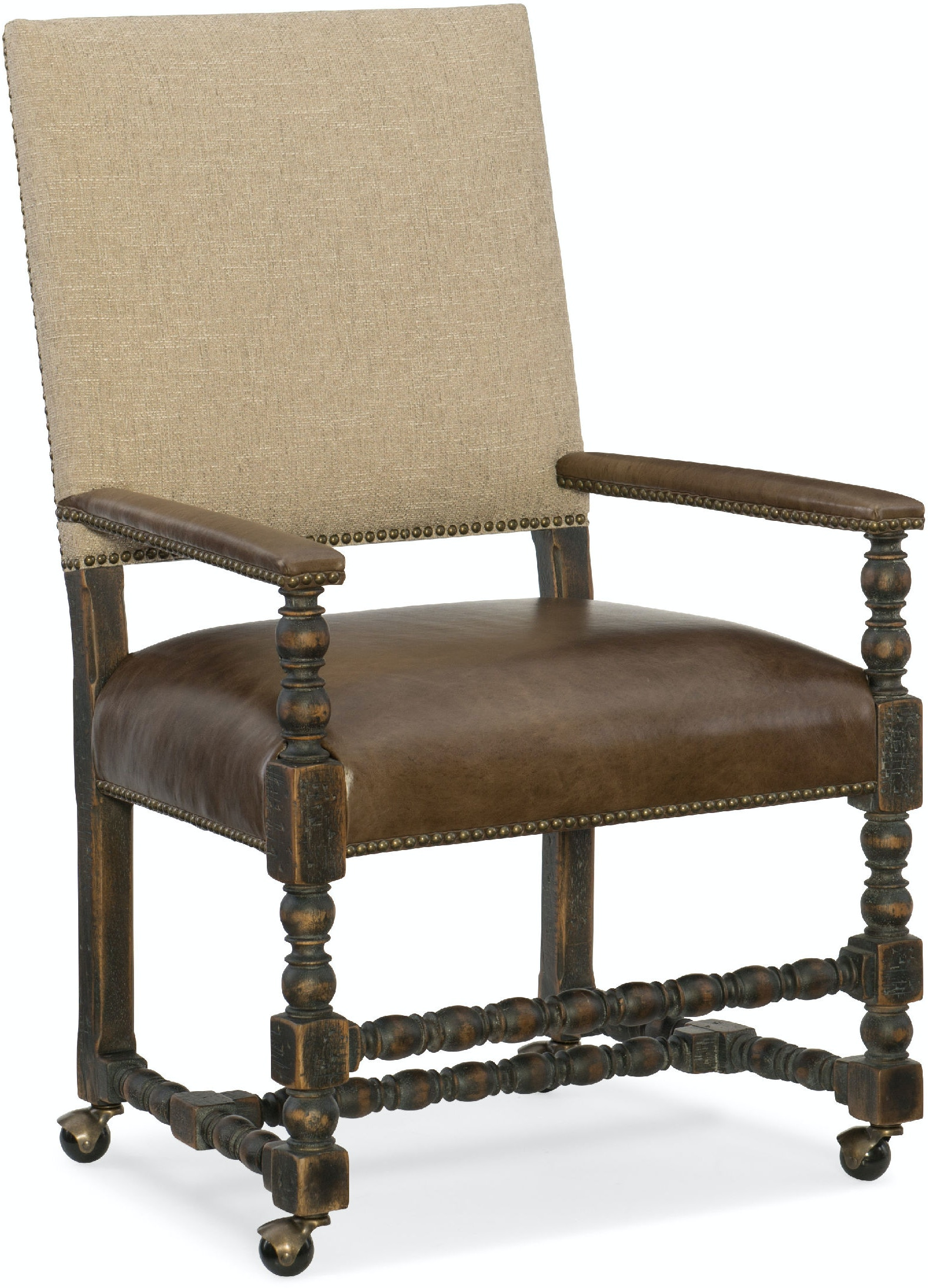 Hooker Furniture Dining Room Comfort Castered Game Chair  : 5960 75500 blk front from www.westcoastlivingoc.com size 1024 x 768 jpeg 41kB
