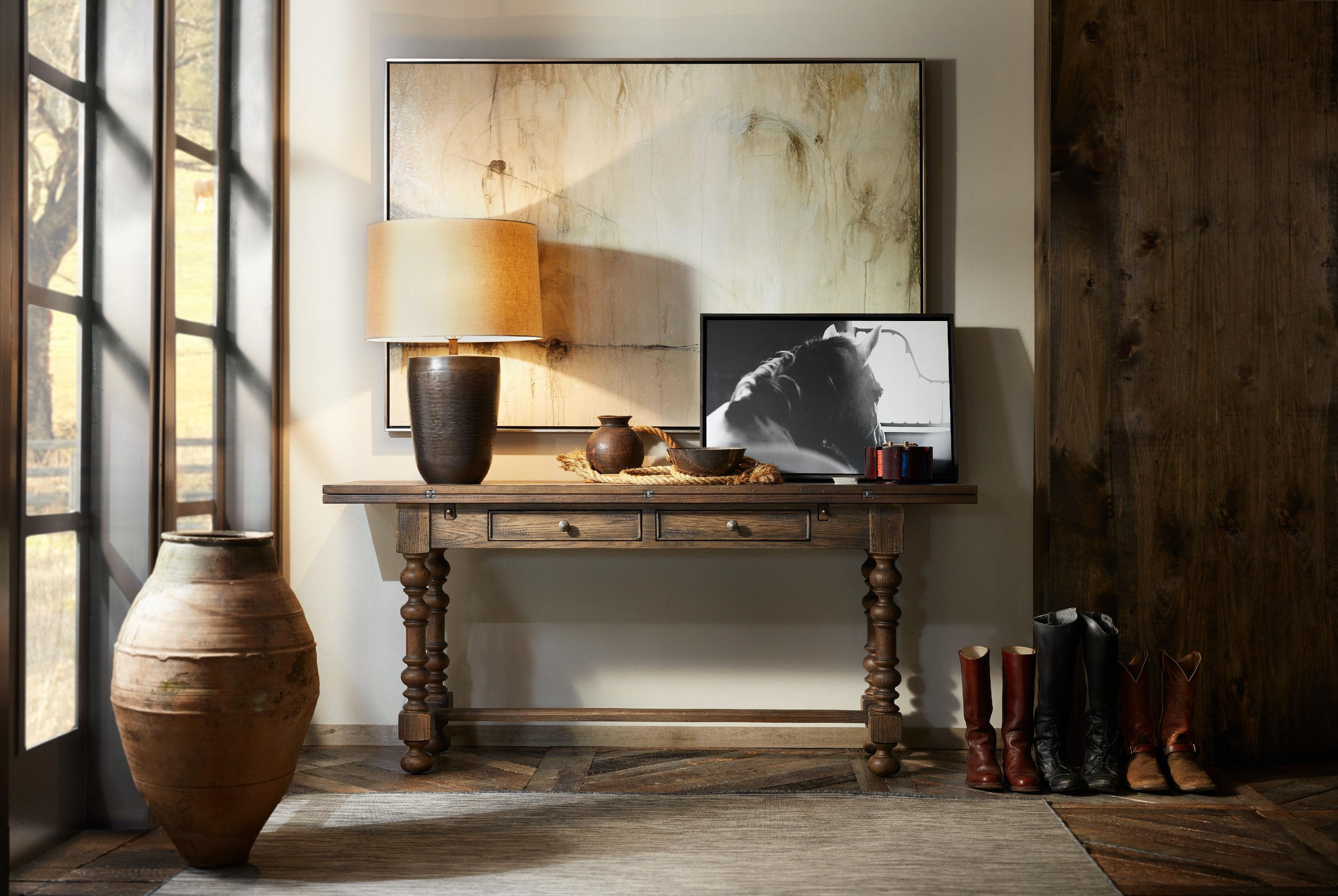Hooker Furniture Bluewind Flip Top Console Table 5960 85001 BRN