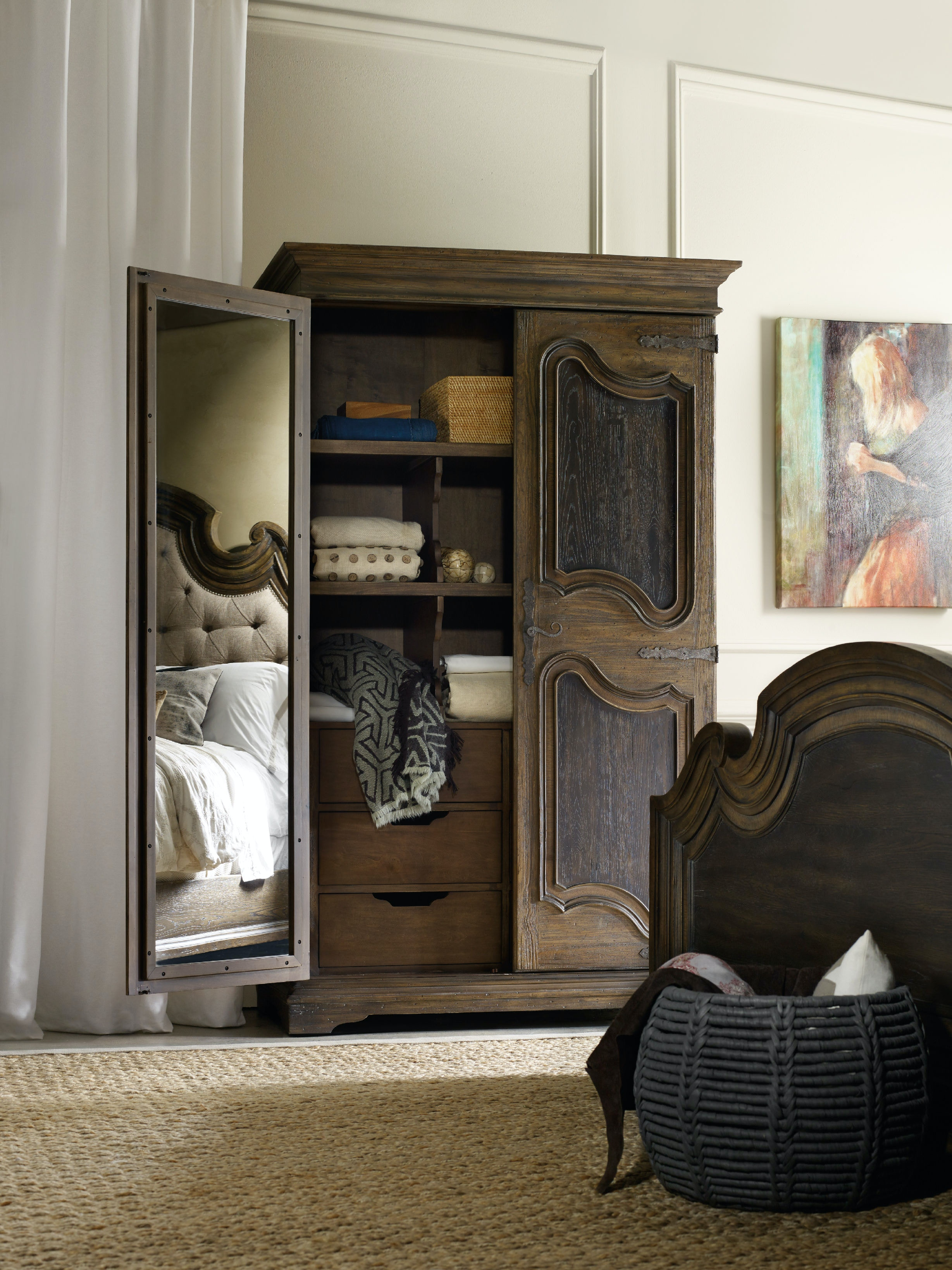 Nightstand With One Drawer And Two Shelves