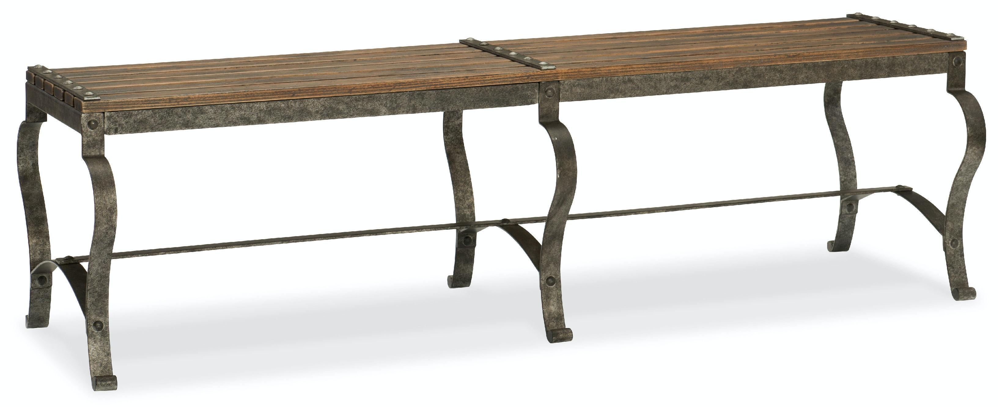 Bedroom bench dimensions - Hooker Furniture Ozark Bed Bench 5960 90019 Mtl