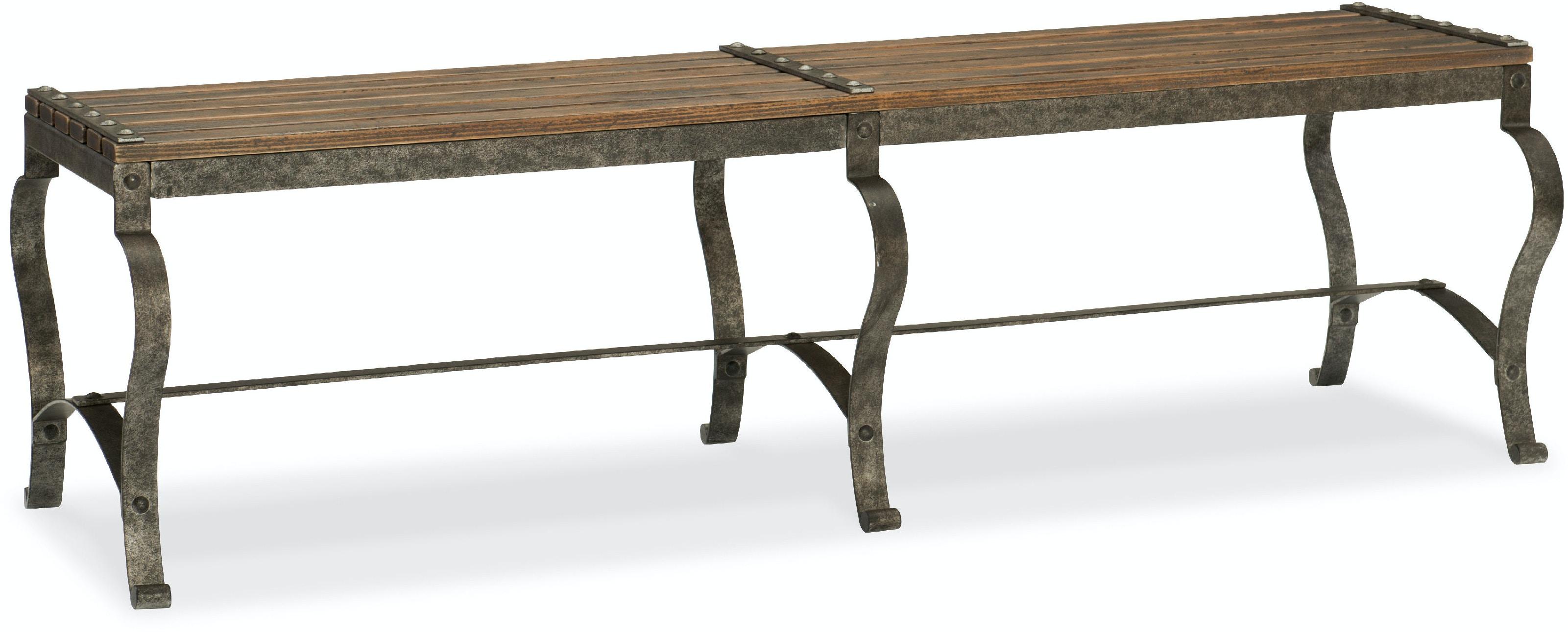Hooker Furniture Bedroom Ozark Bed Bench 5960 MTL