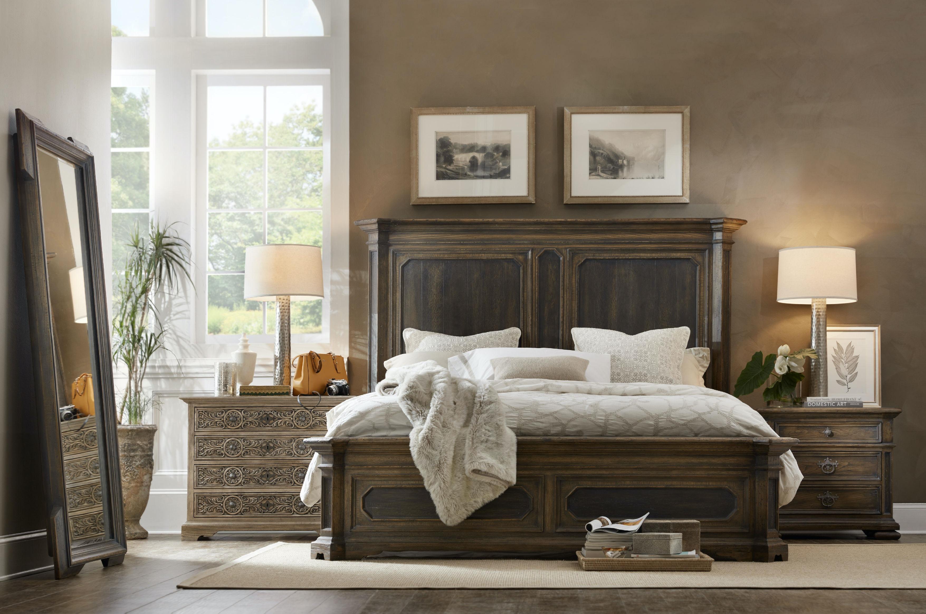 Good Hooker Furniture Woodcreek King Mansion Bed 5960 90266 MULTI