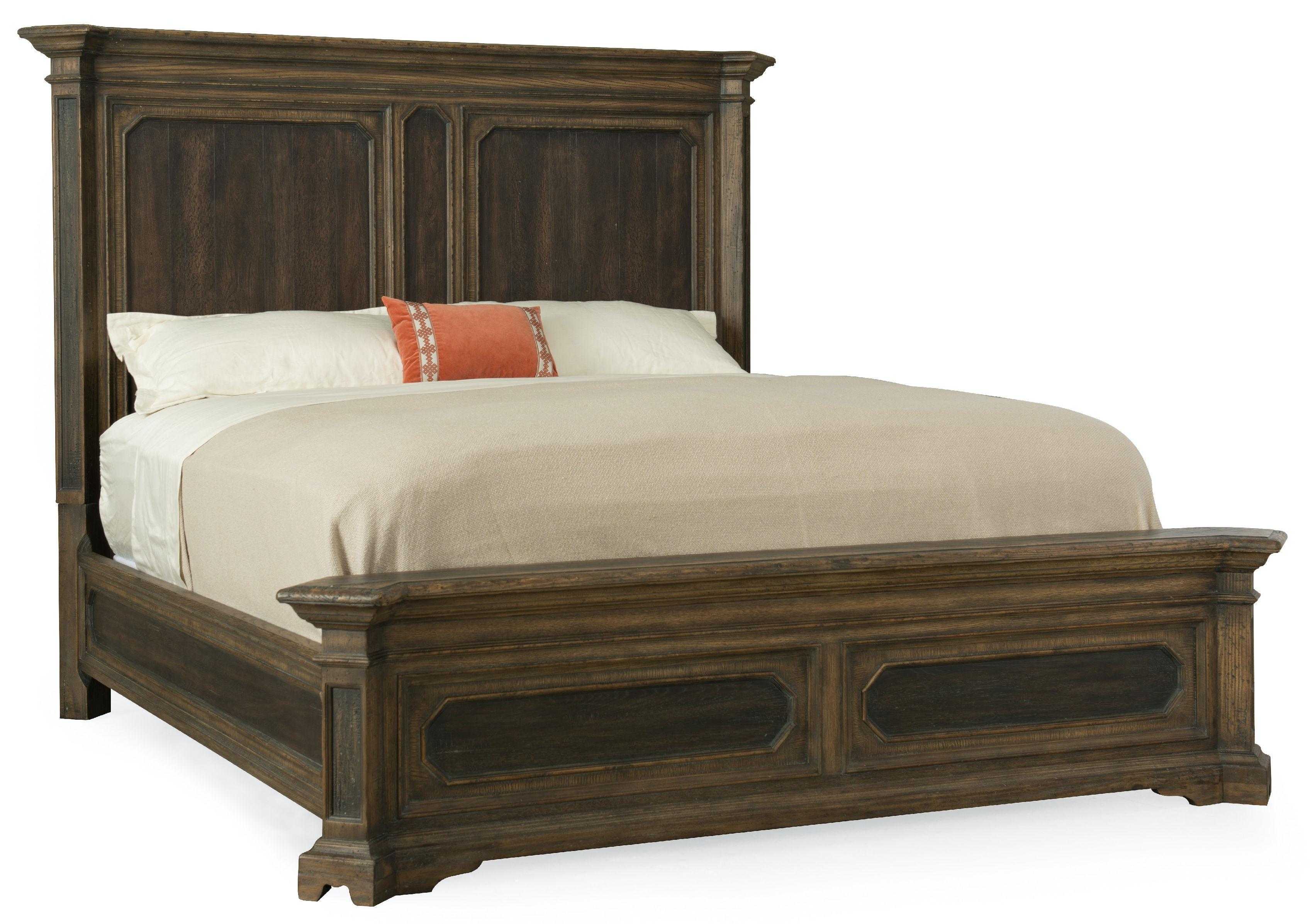 Hooker Furniture Bedroom Woodcreek King Mansion Bed 5960 90266 Multi