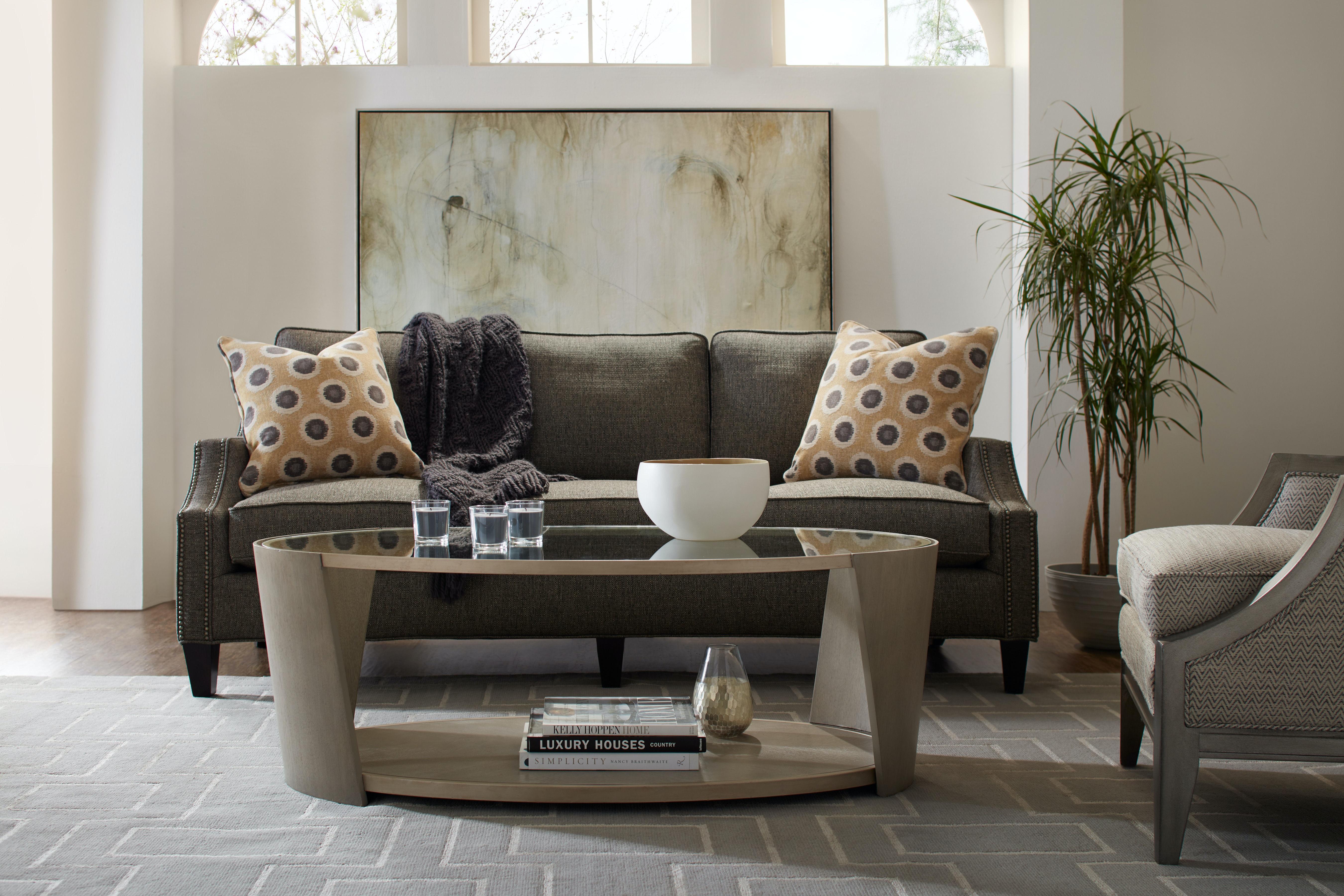 Hooker Furniture Living Room Elixir Oval Cocktail Table 5990 80109 Ltwd