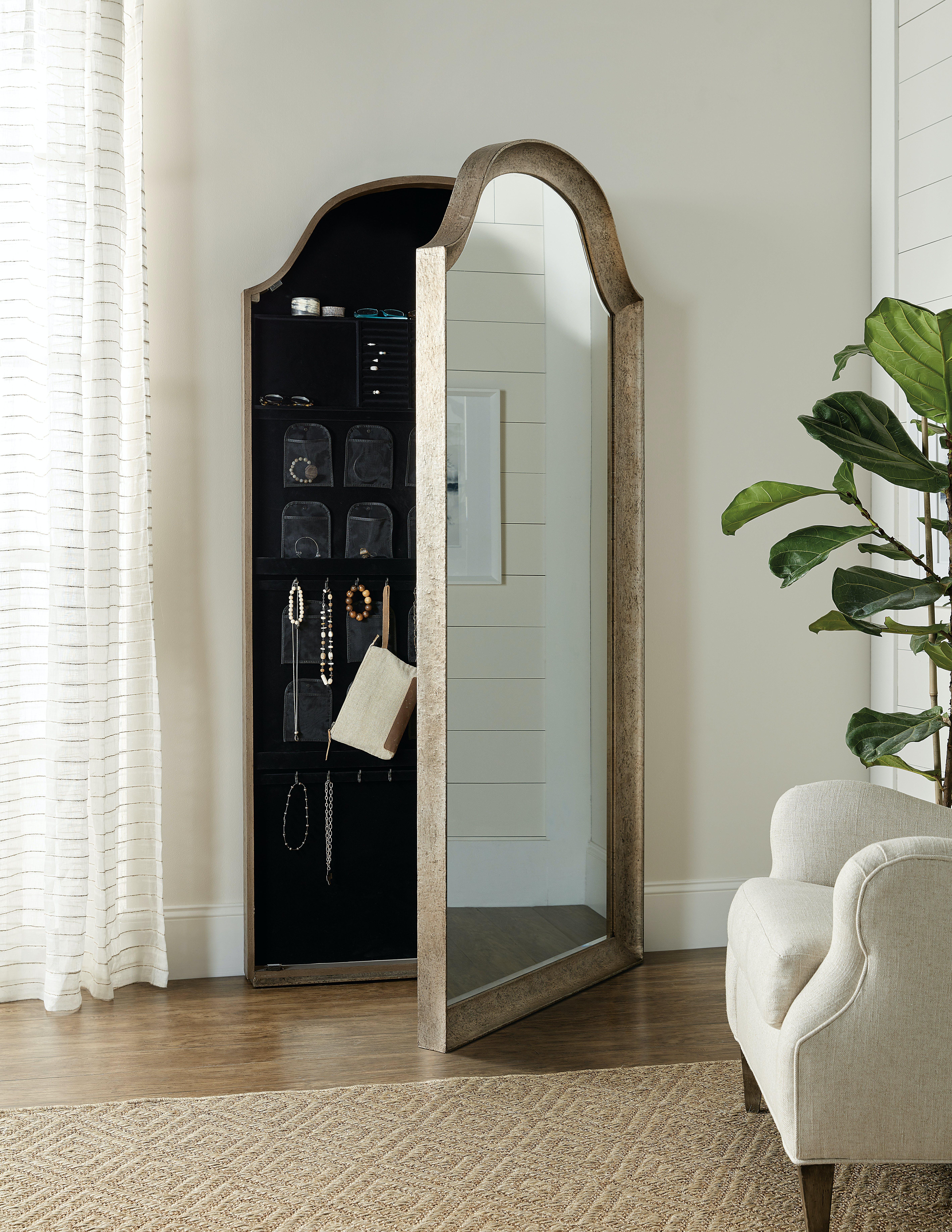 Hooker Furniture Accessories Alfresco Paradiso Floor Mirror W Jewelry Storage 6025 50004 85 Wenz