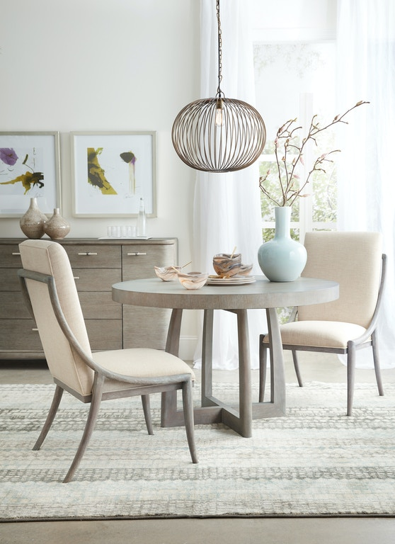 Hooker Furniture 6050 75203 Gry Dining Room Affinity 48in Round