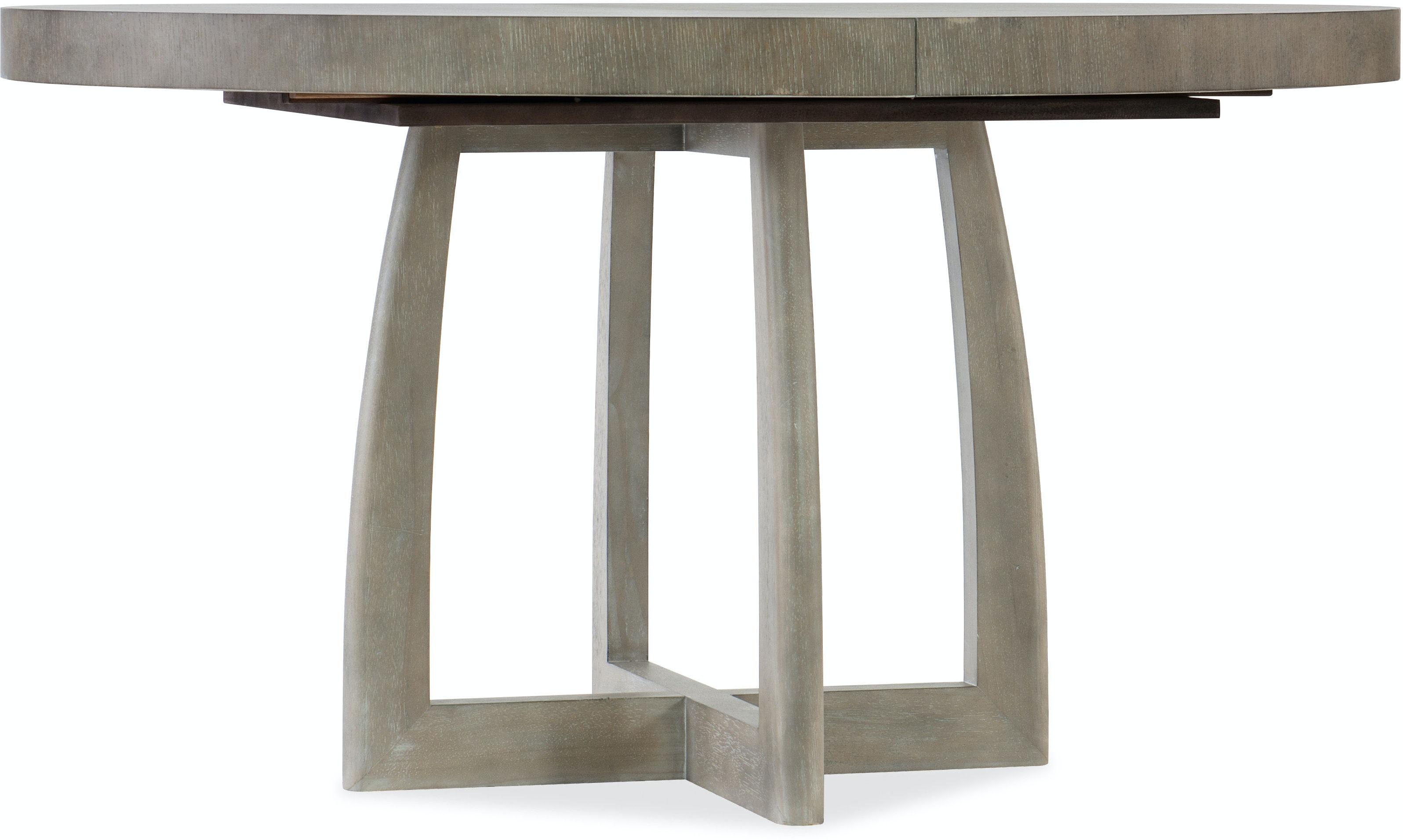 pedestal dining room table with leaf | Hooker Furniture Dining Room Affinity 48in Round Pedestal ...